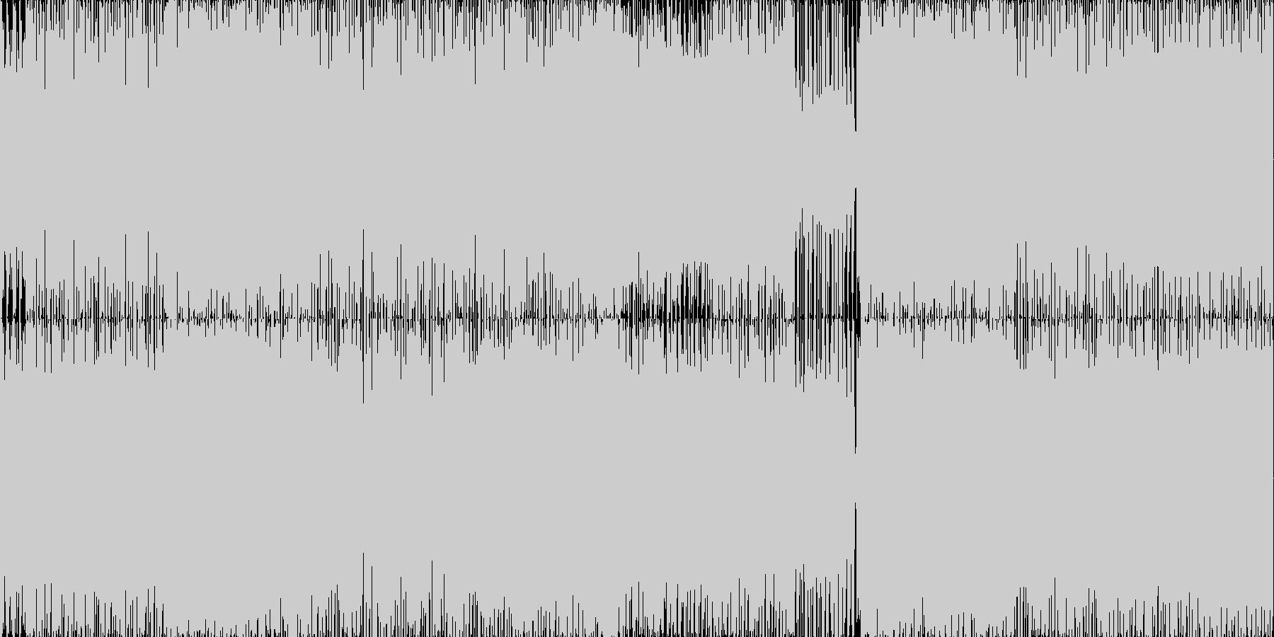 疾走感のあるハードロック・メタルBGMの未再生の波形