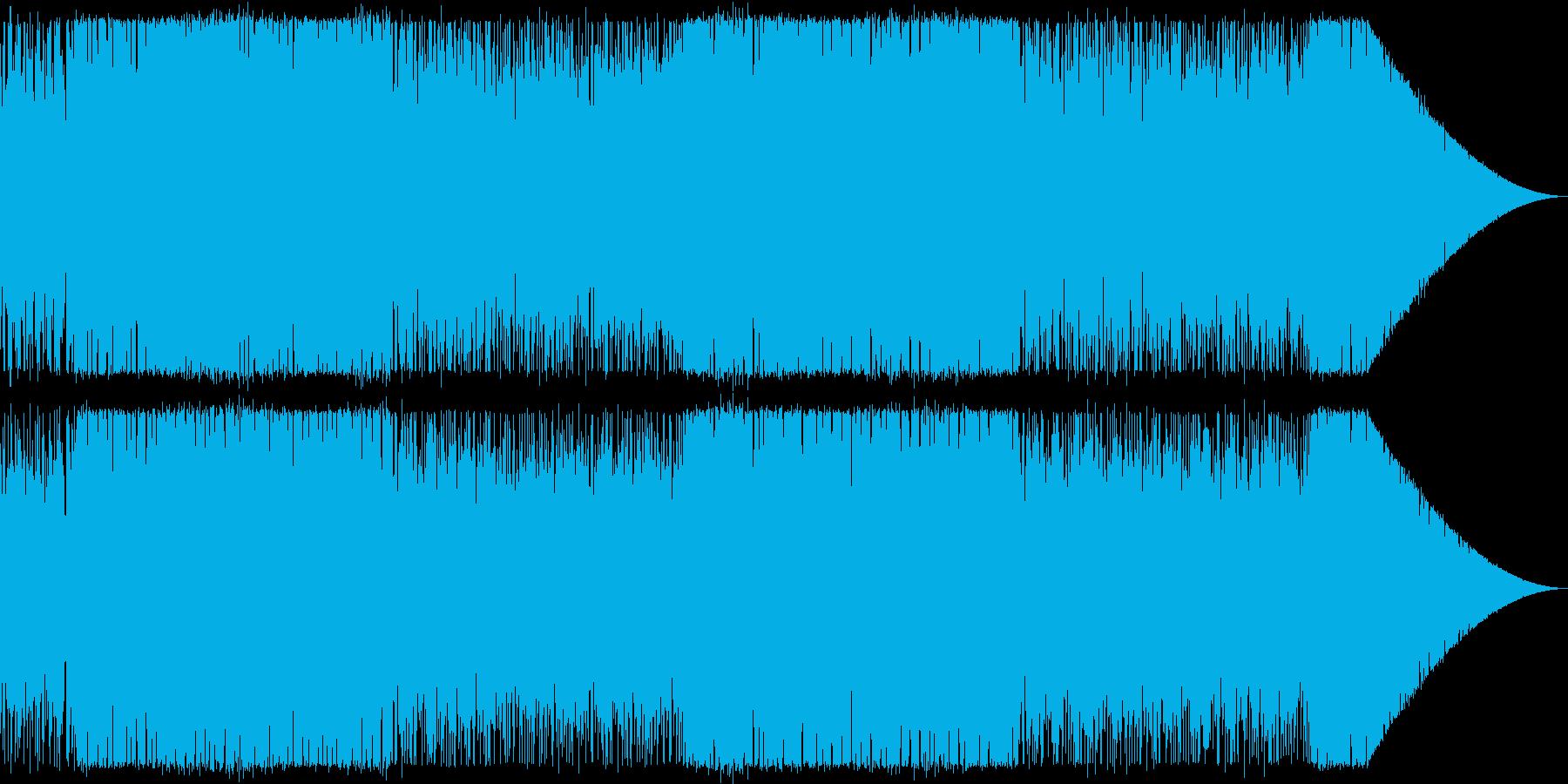 明快単純ポップな曲の再生済みの波形