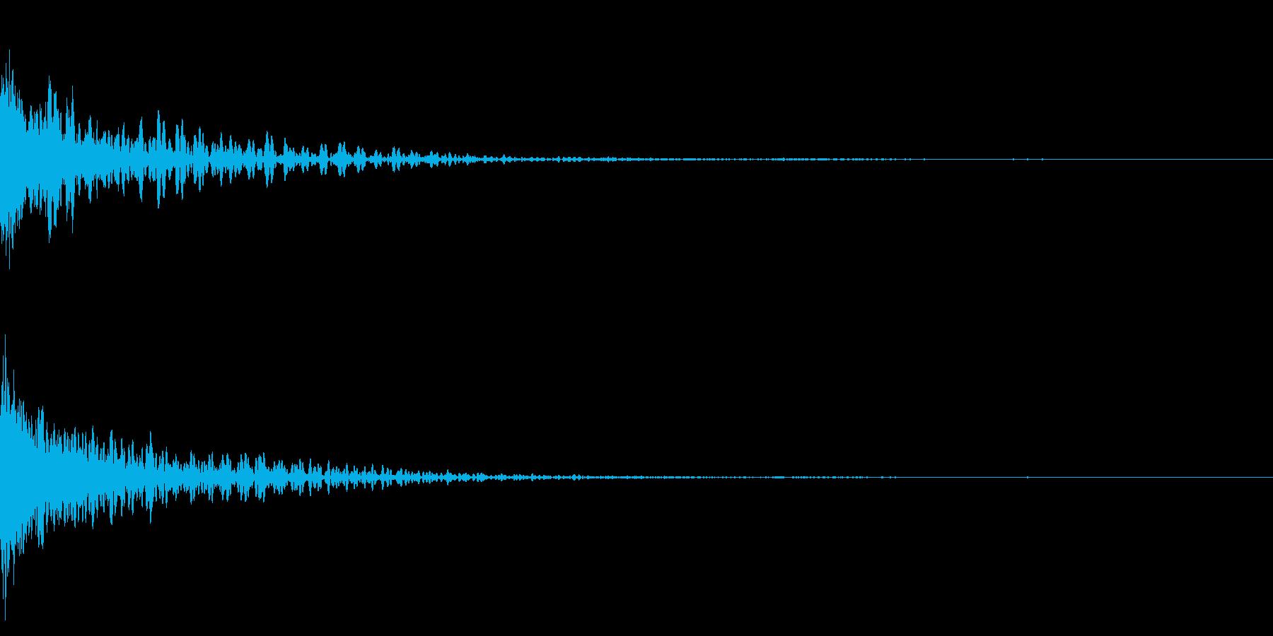 ホラー系アタック音72の再生済みの波形
