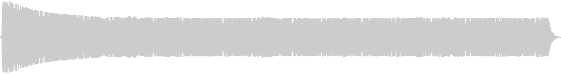 プヨヨヨ。言葉を伏せる音(高)の未再生の波形
