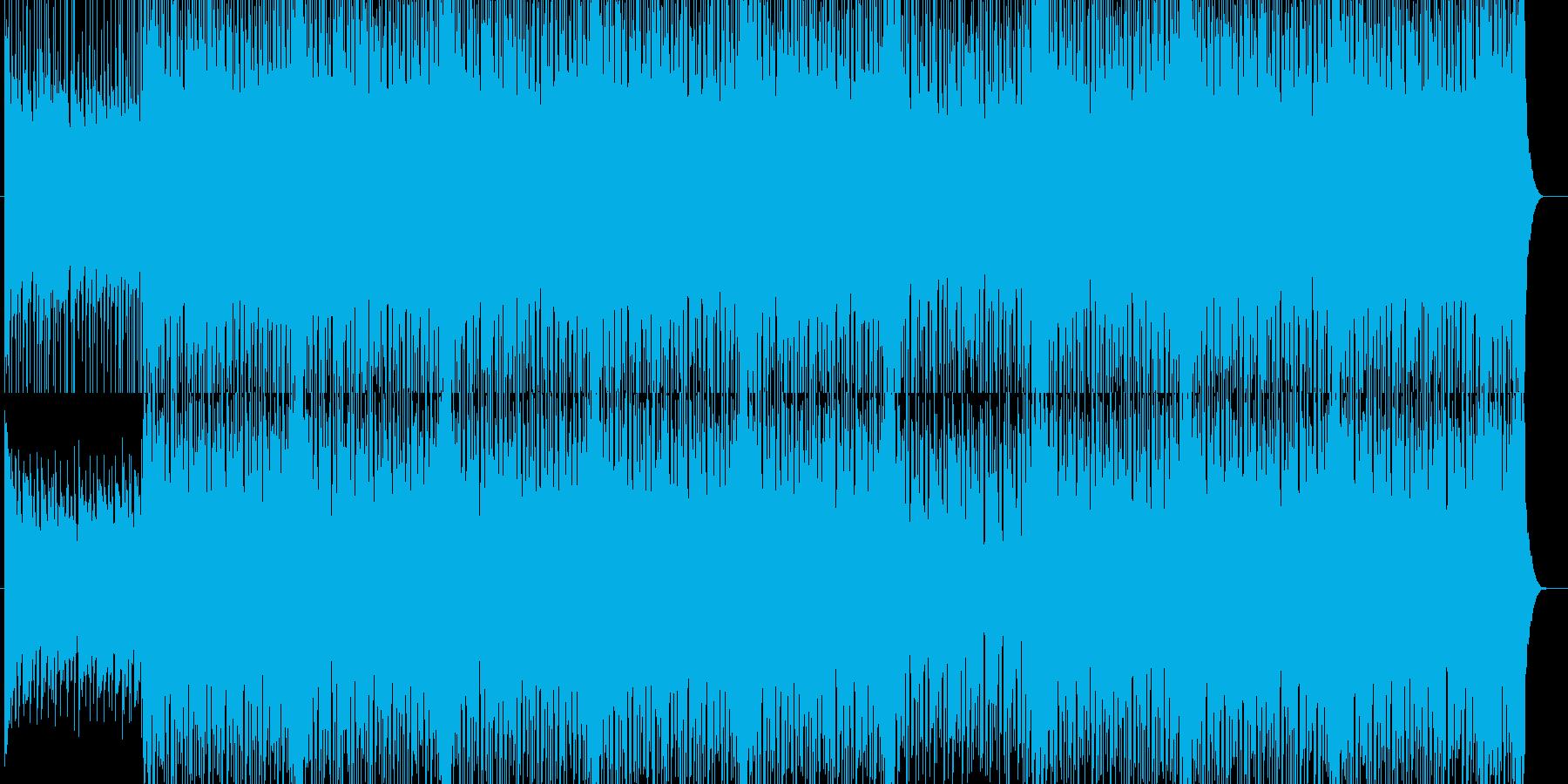 ギターが入ったポッブなBGM(メロ抜き)の再生済みの波形