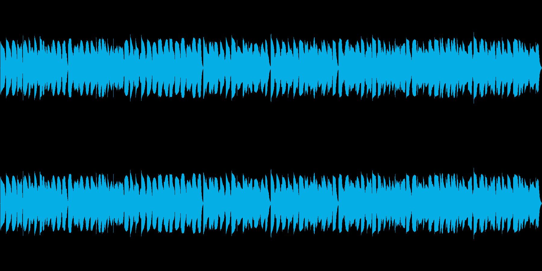 レトロ風なループ曲の再生済みの波形