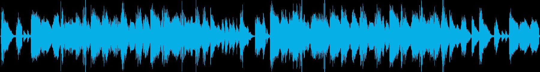 ダブステップのループBGMの再生済みの波形