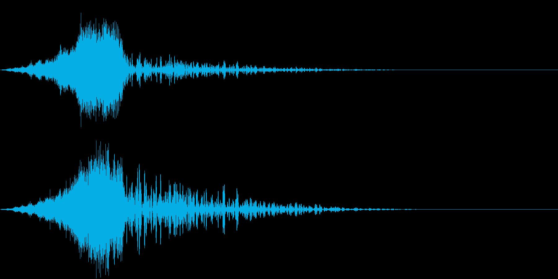 ゆっくりとメーターが動くイメージの再生済みの波形