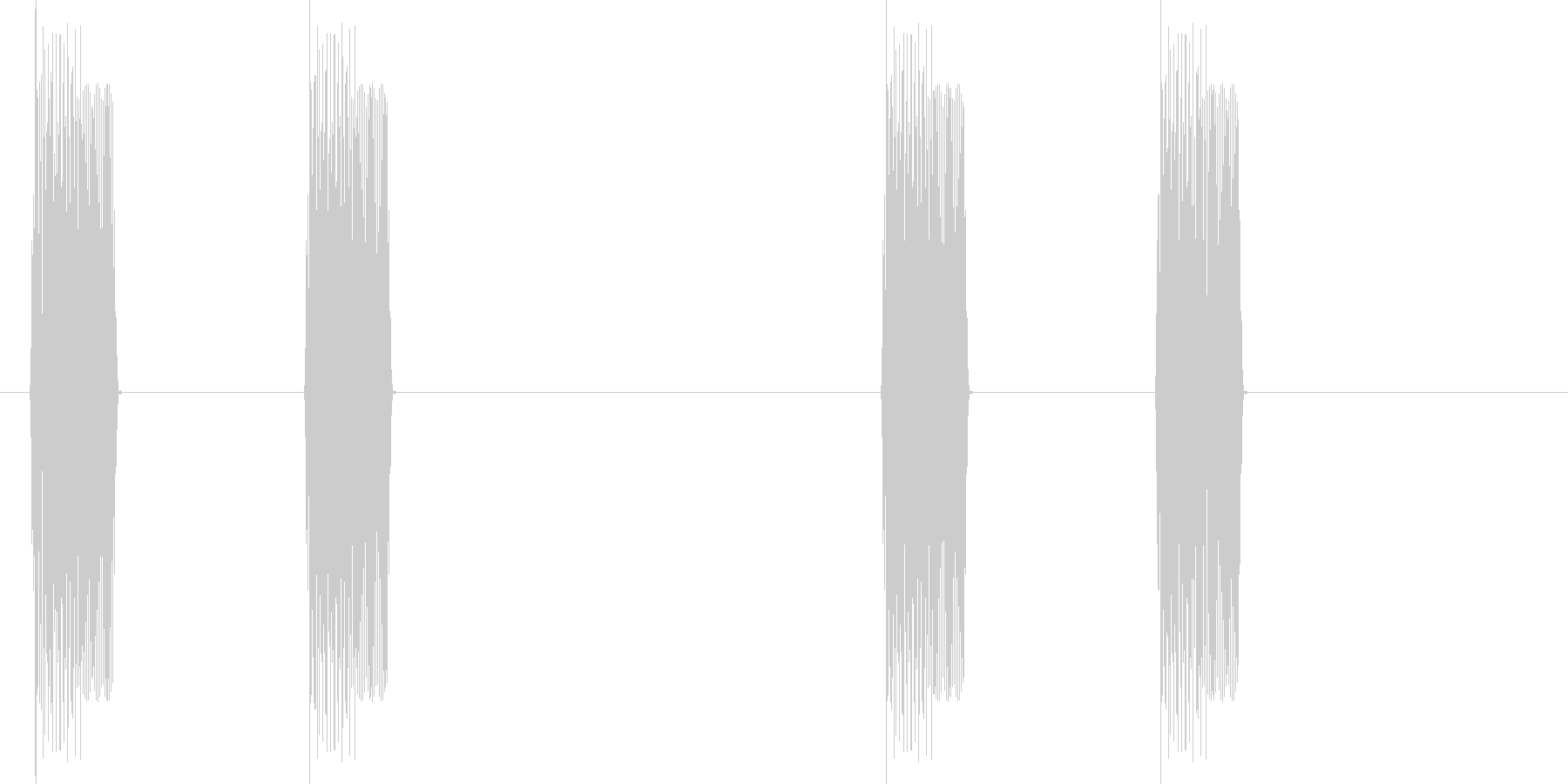 速報(ピッピ、ピッピ)の未再生の波形