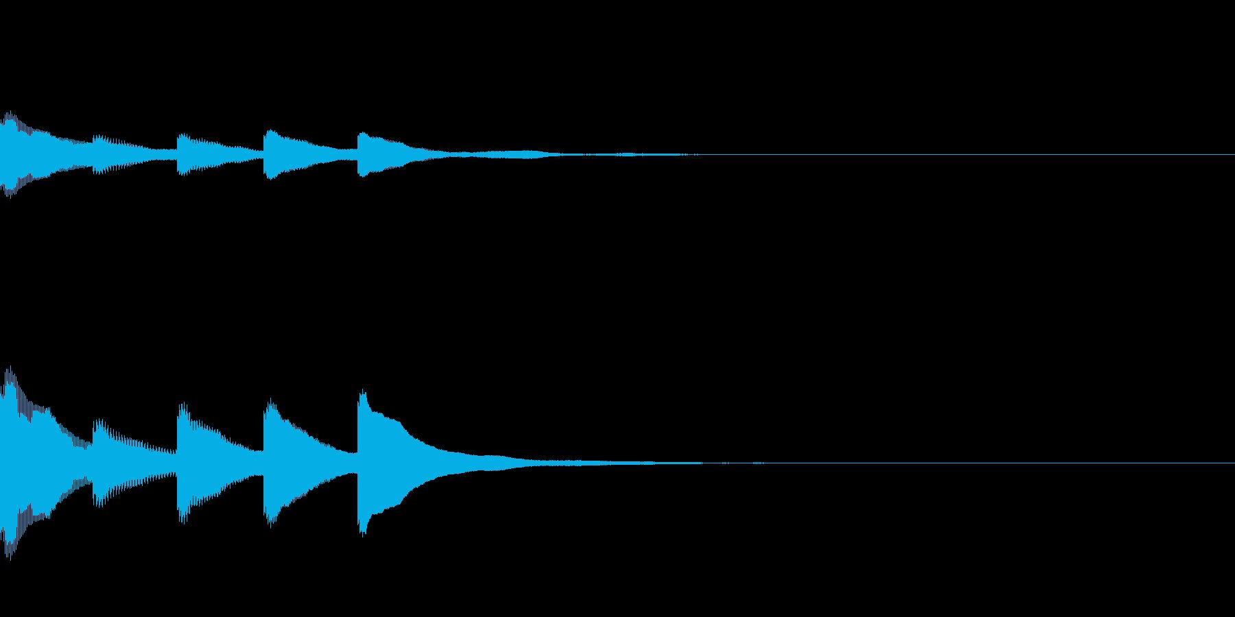 マリンバのアプリ起動音です。の再生済みの波形