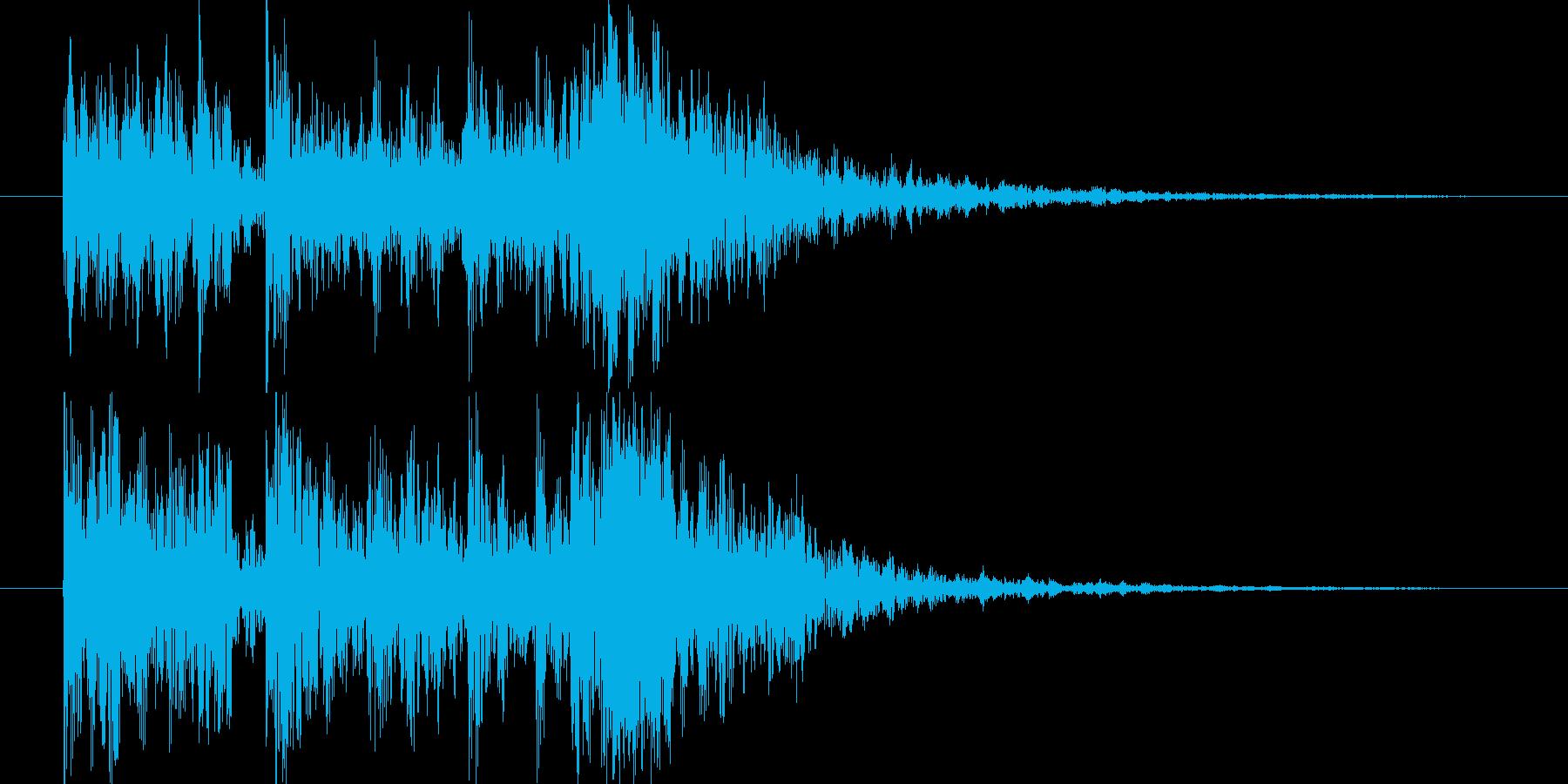 短い和風の効果音 3の再生済みの波形
