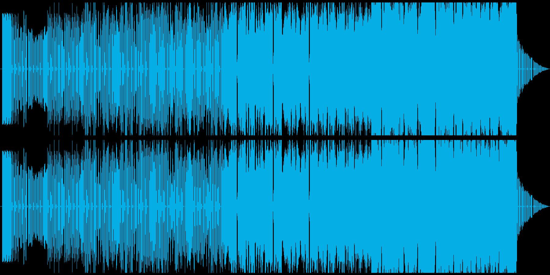 レトロゲームのRPGの通常戦闘BGMの再生済みの波形