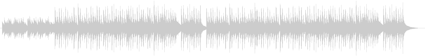 チェレスタと弦による切なくも暖かい曲の未再生の波形