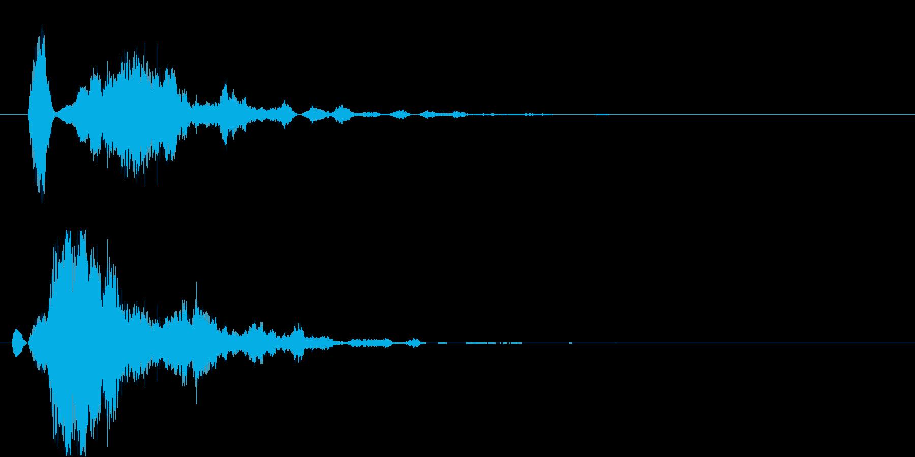 混乱音の再生済みの波形
