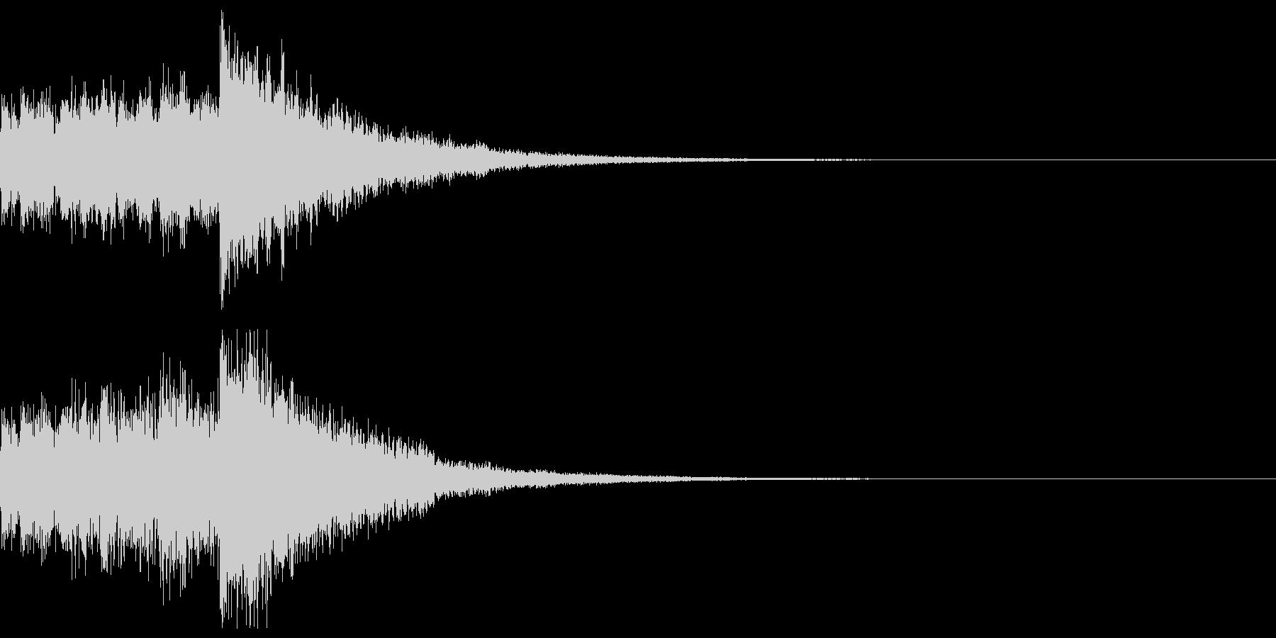 達成(ファンタジー系)の未再生の波形