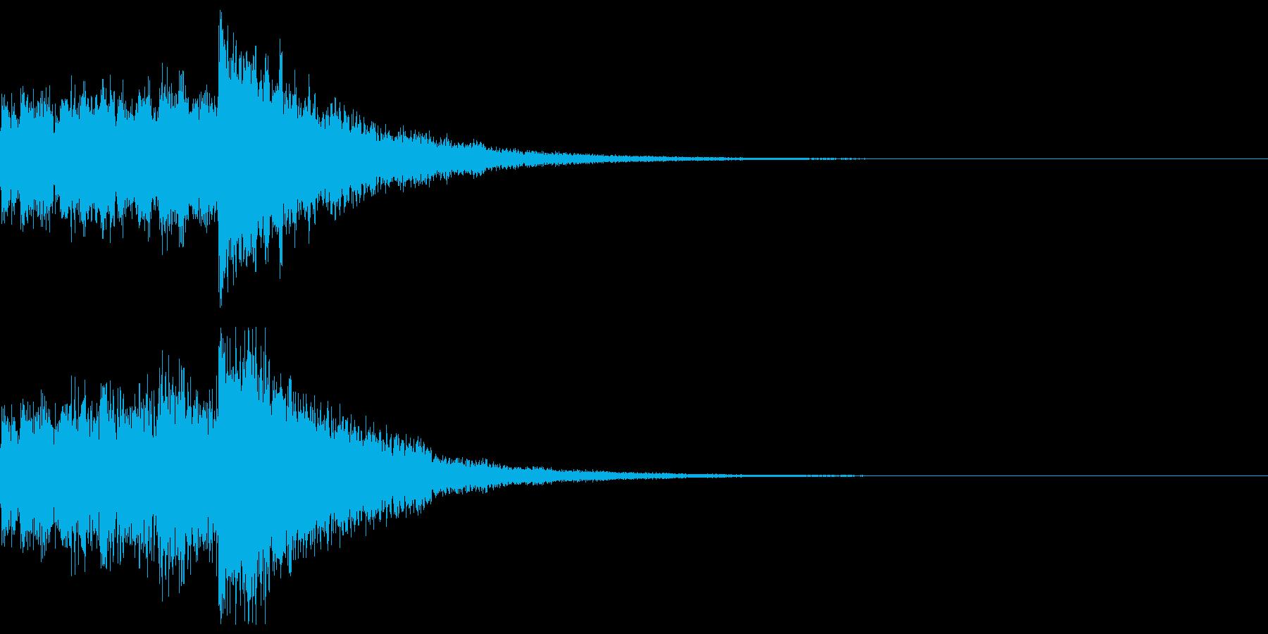 達成(ファンタジー系)の再生済みの波形