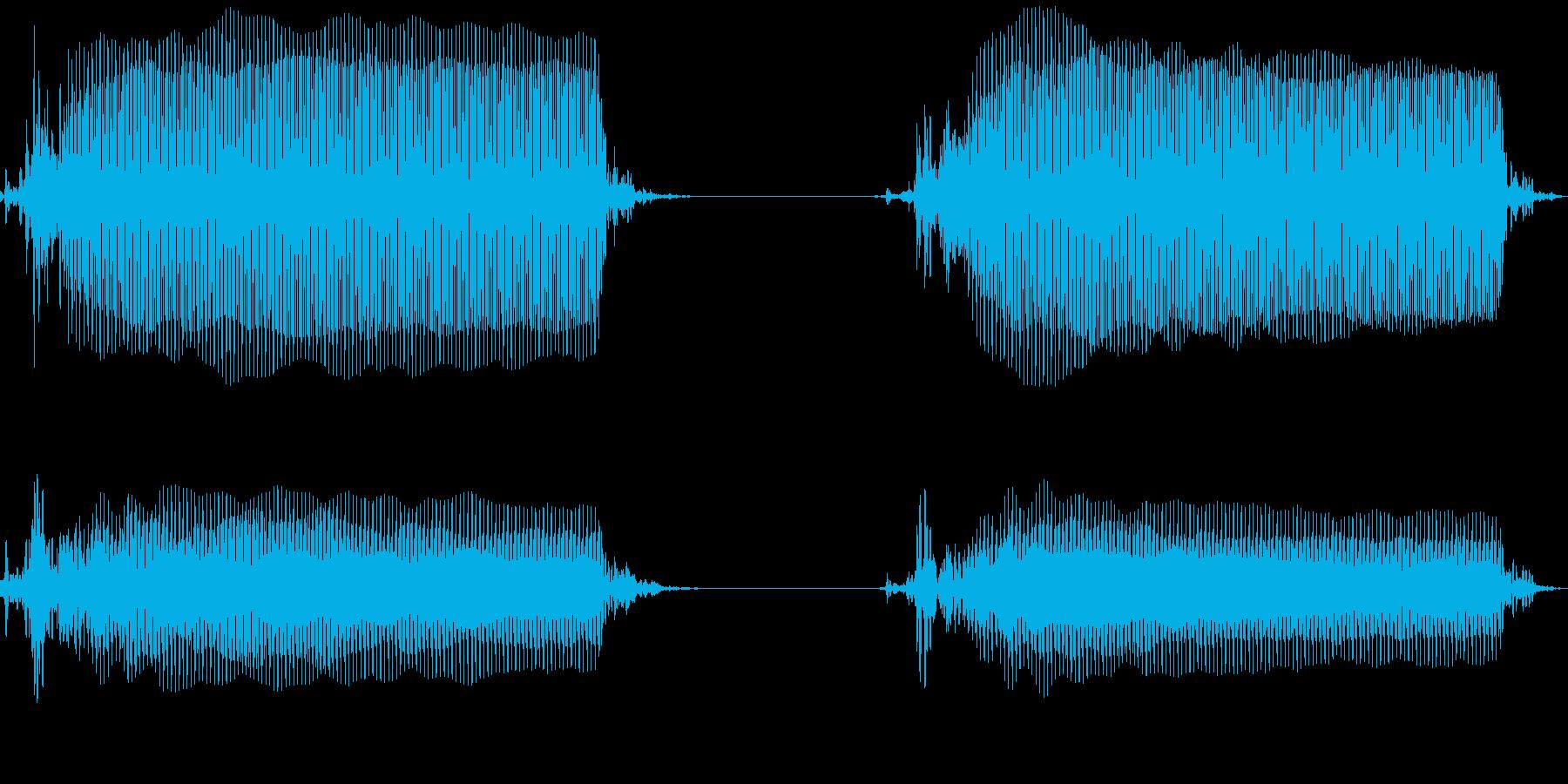 携帯電話のバイブレーション(台の上)の再生済みの波形