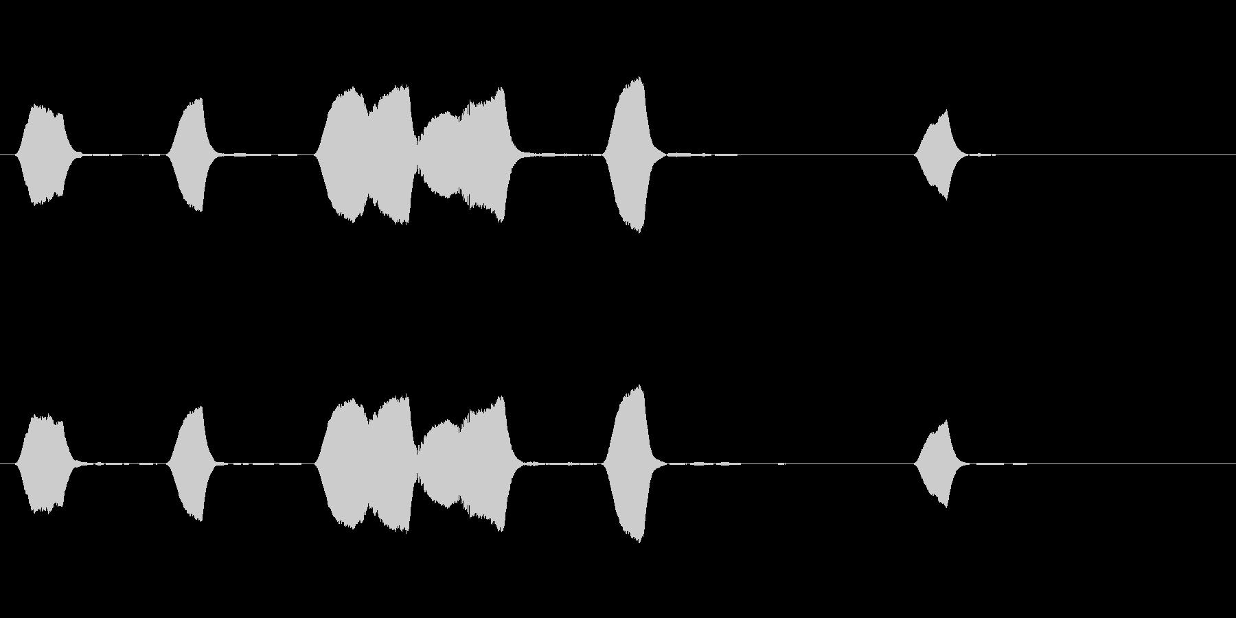 ジングル 口笛 ほのぼの のんびりの未再生の波形