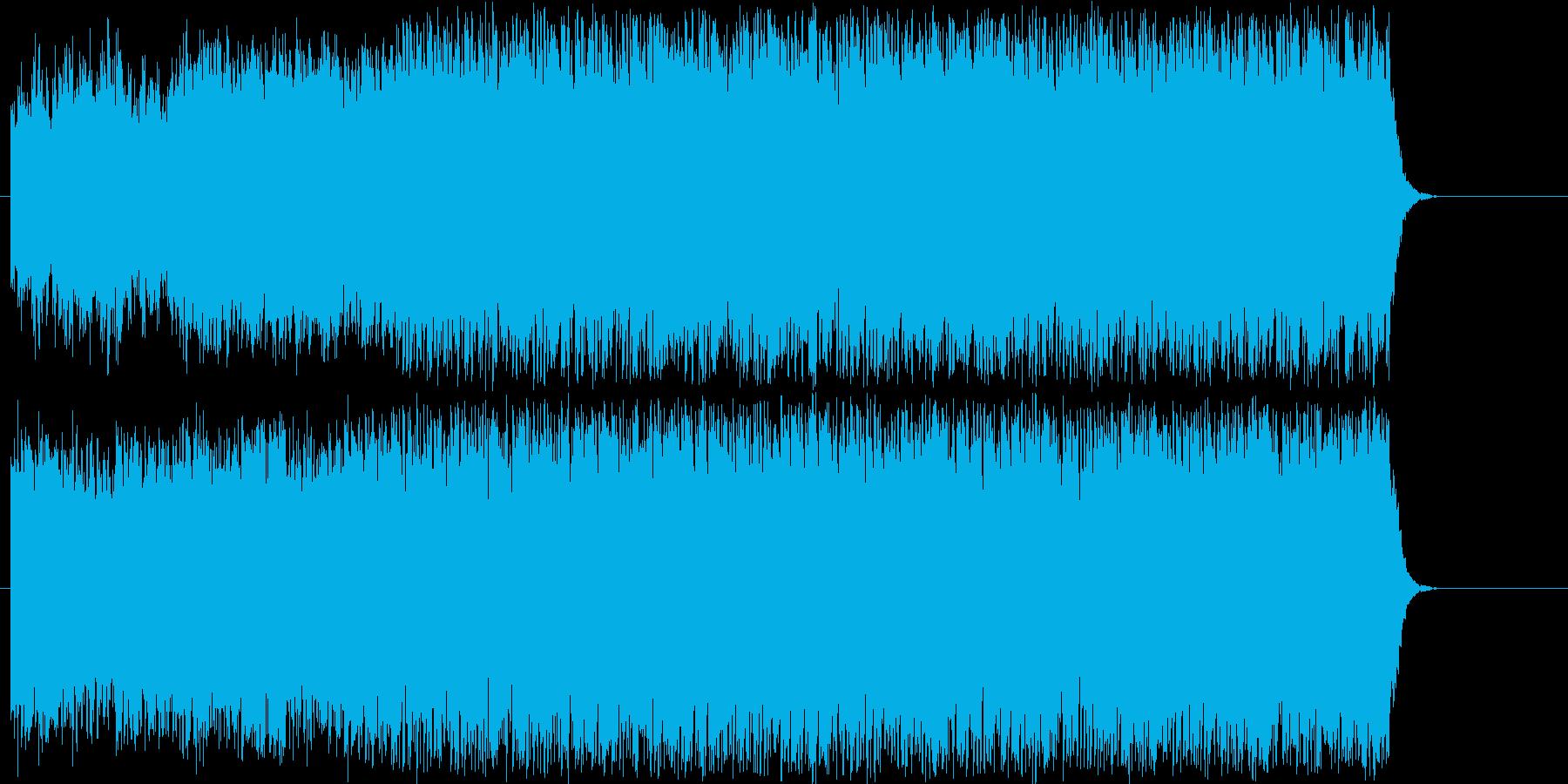 にぎやかでコミカルなポップの再生済みの波形