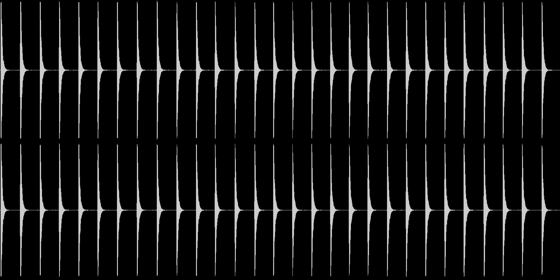 ぽくぽくぽくの未再生の波形