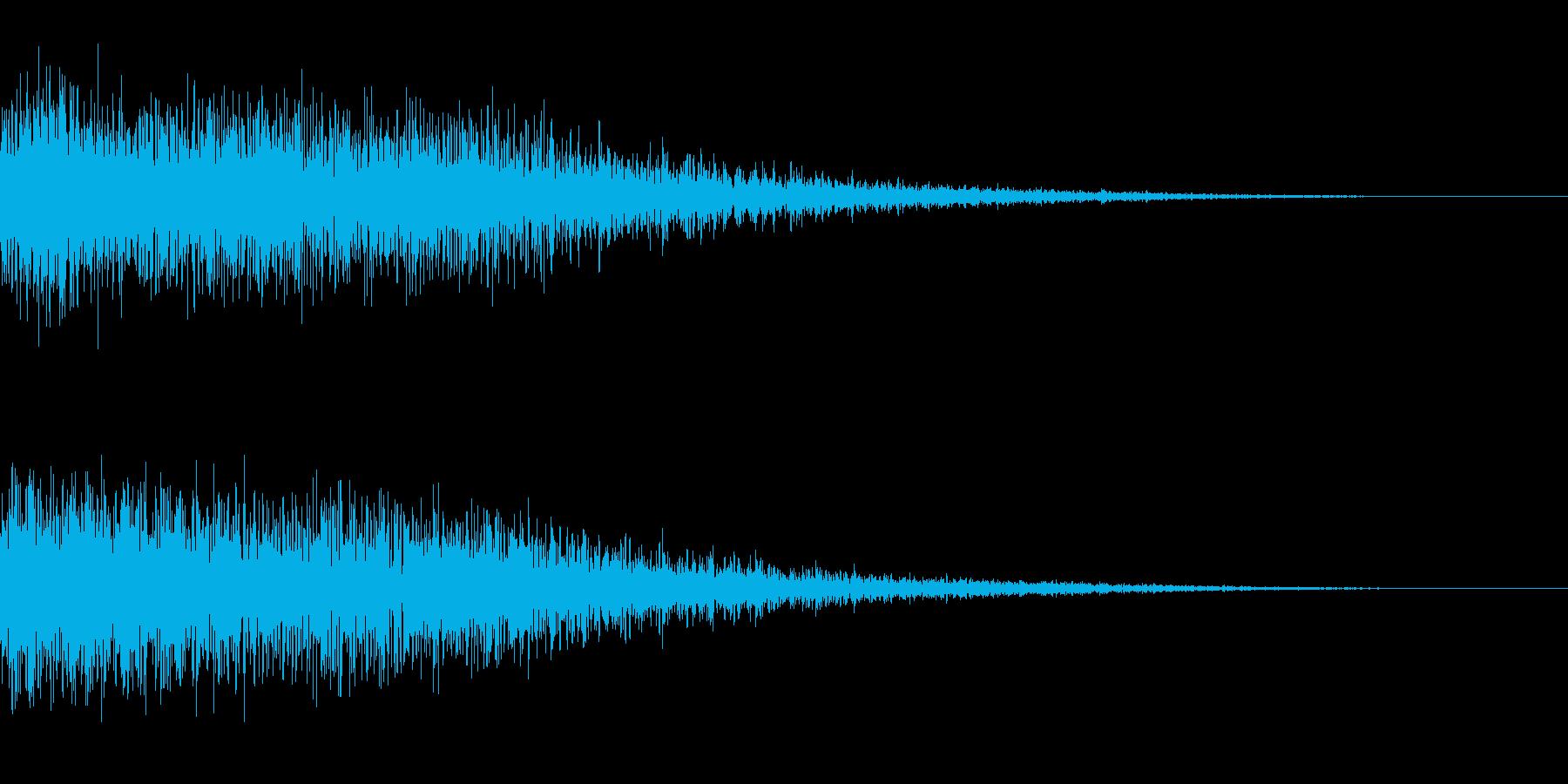 SF映画にありそうな効果音の再生済みの波形