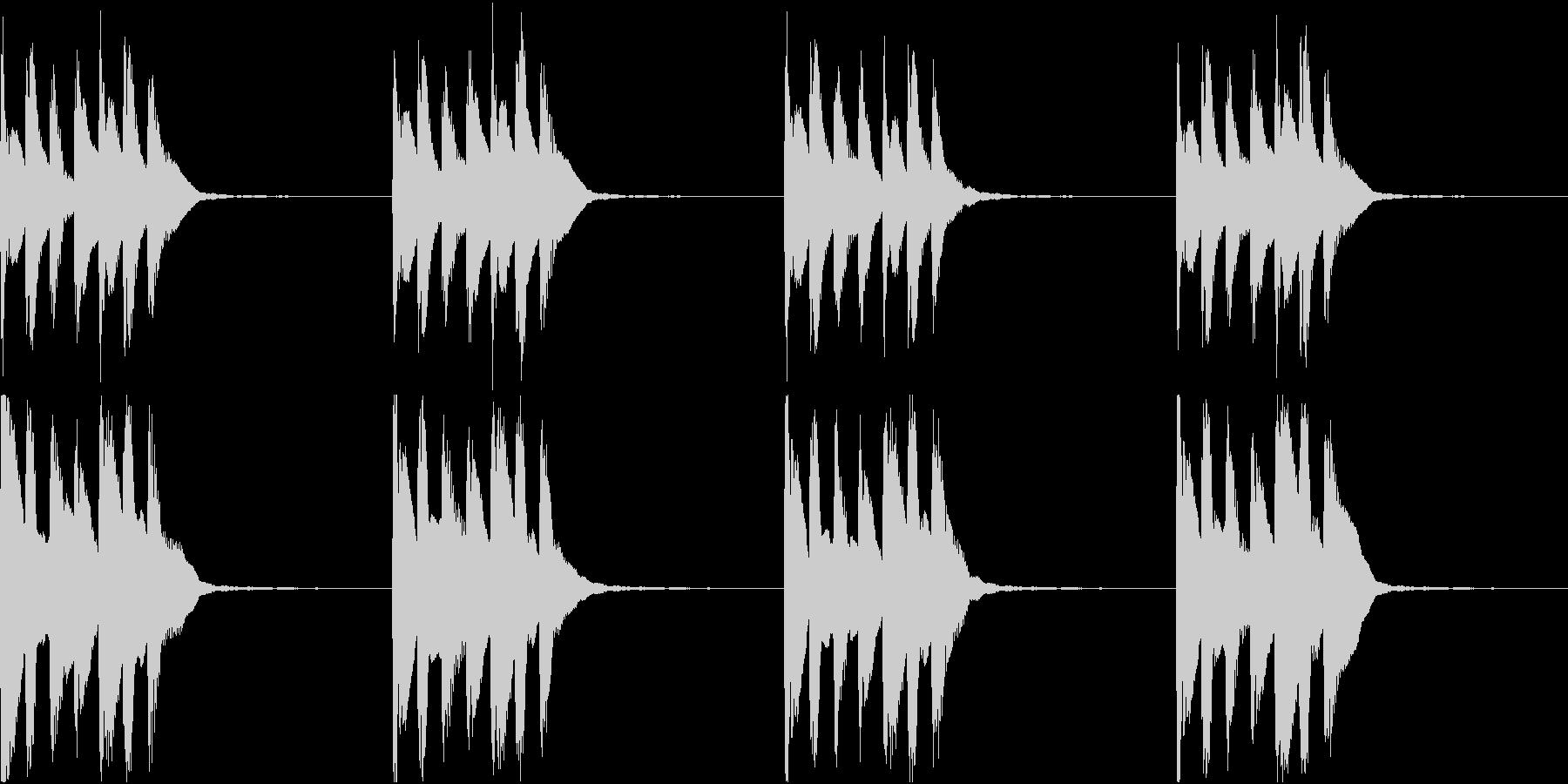 シンプル ベル 着信音 チャイム C-3の未再生の波形
