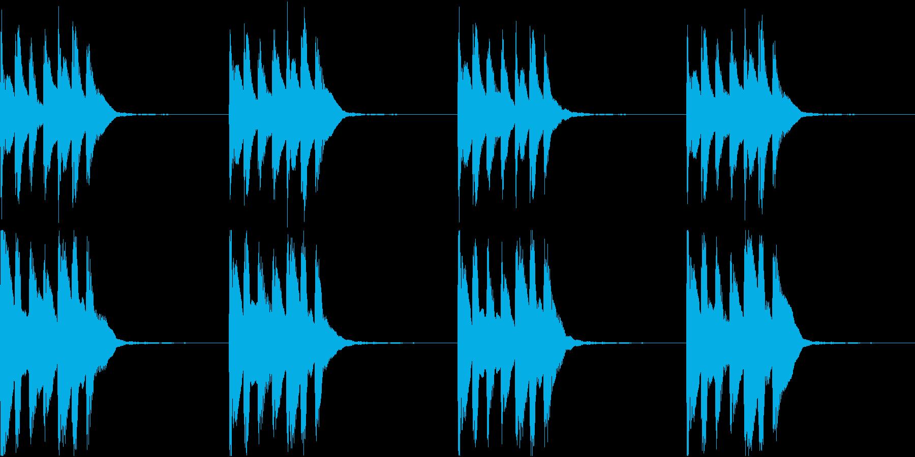 シンプル ベル 着信音 チャイム C-3の再生済みの波形