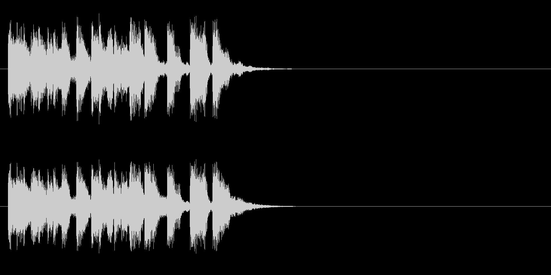 クイズ アタック 情報 CM イベントの未再生の波形