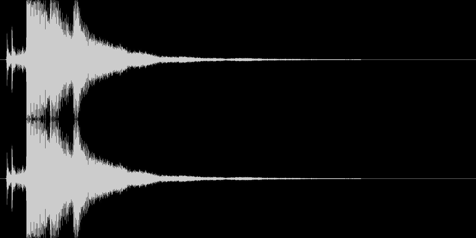 氷・クリスタルが砕ける音2の未再生の波形