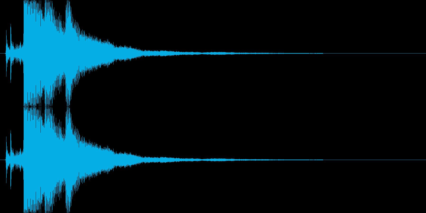 氷・クリスタルが砕ける音2の再生済みの波形