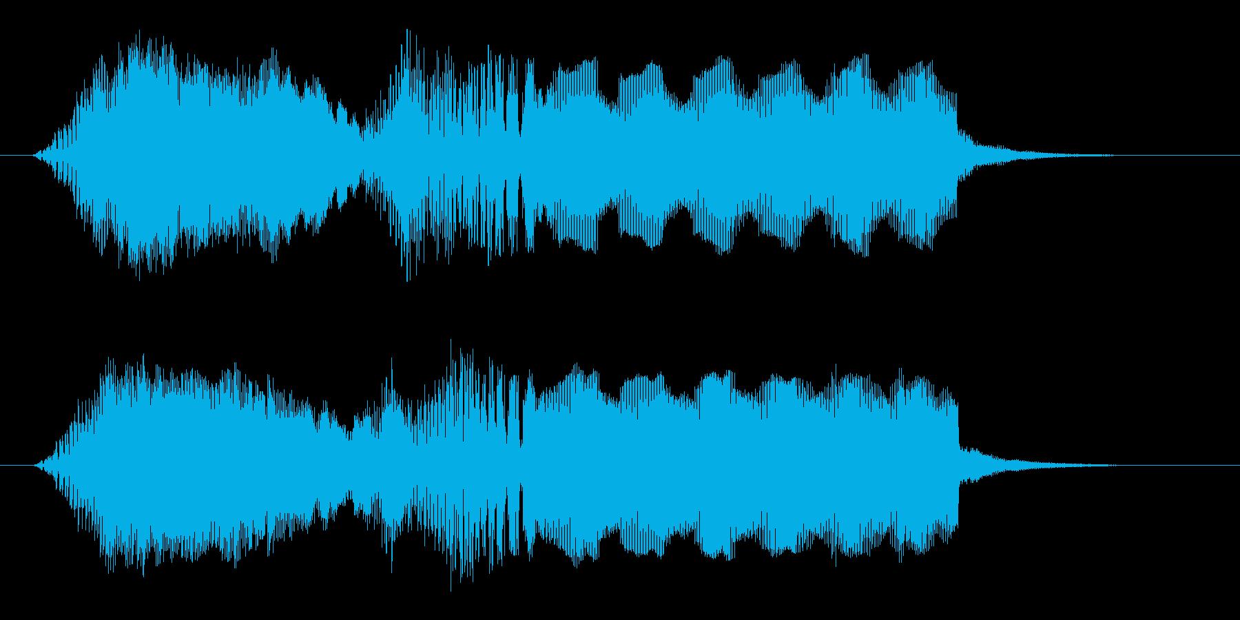 映画などが始まりそうなサウンドロゴの再生済みの波形
