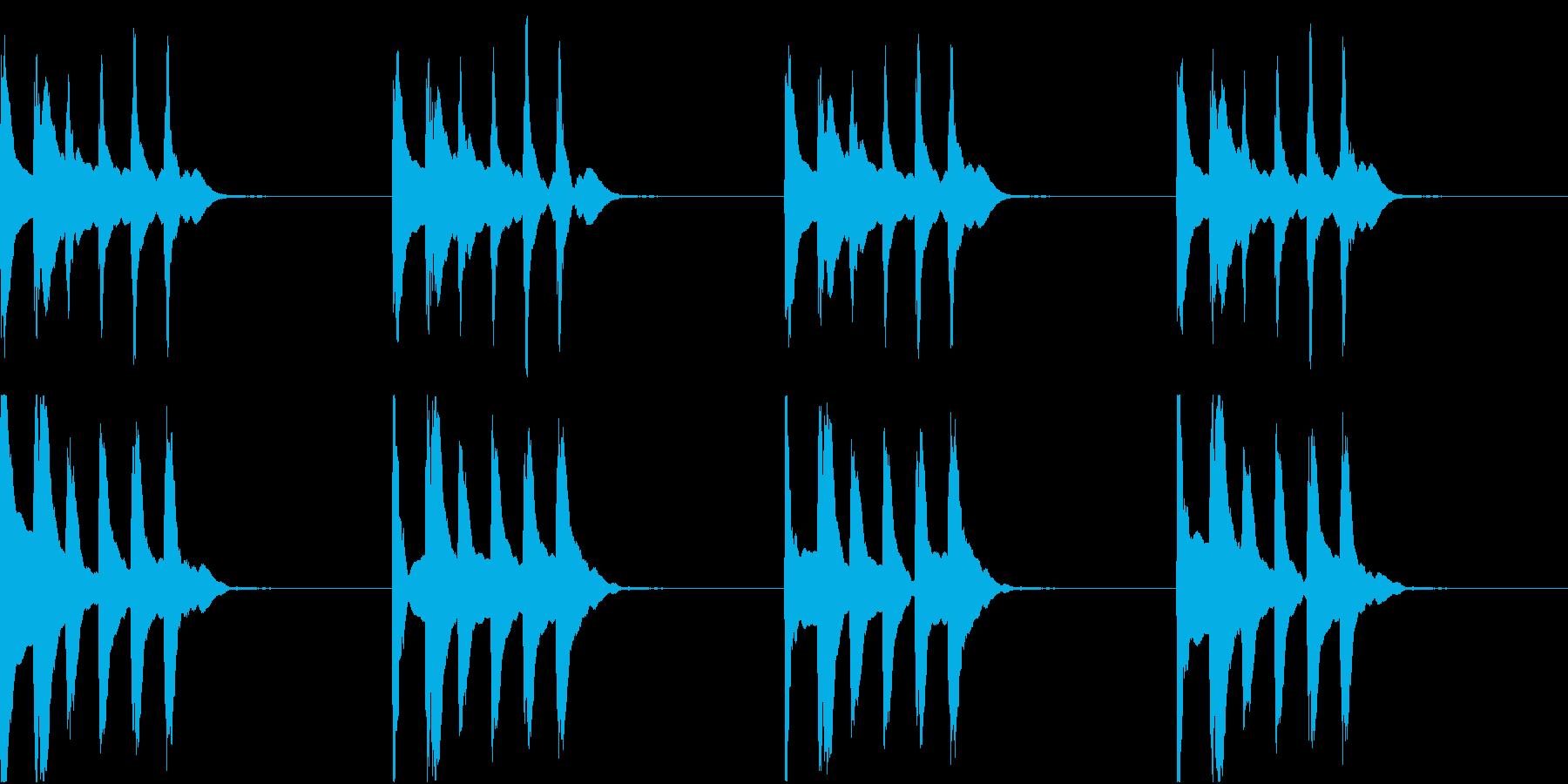 シンプル ベル 着信音 チャイム C-5の再生済みの波形