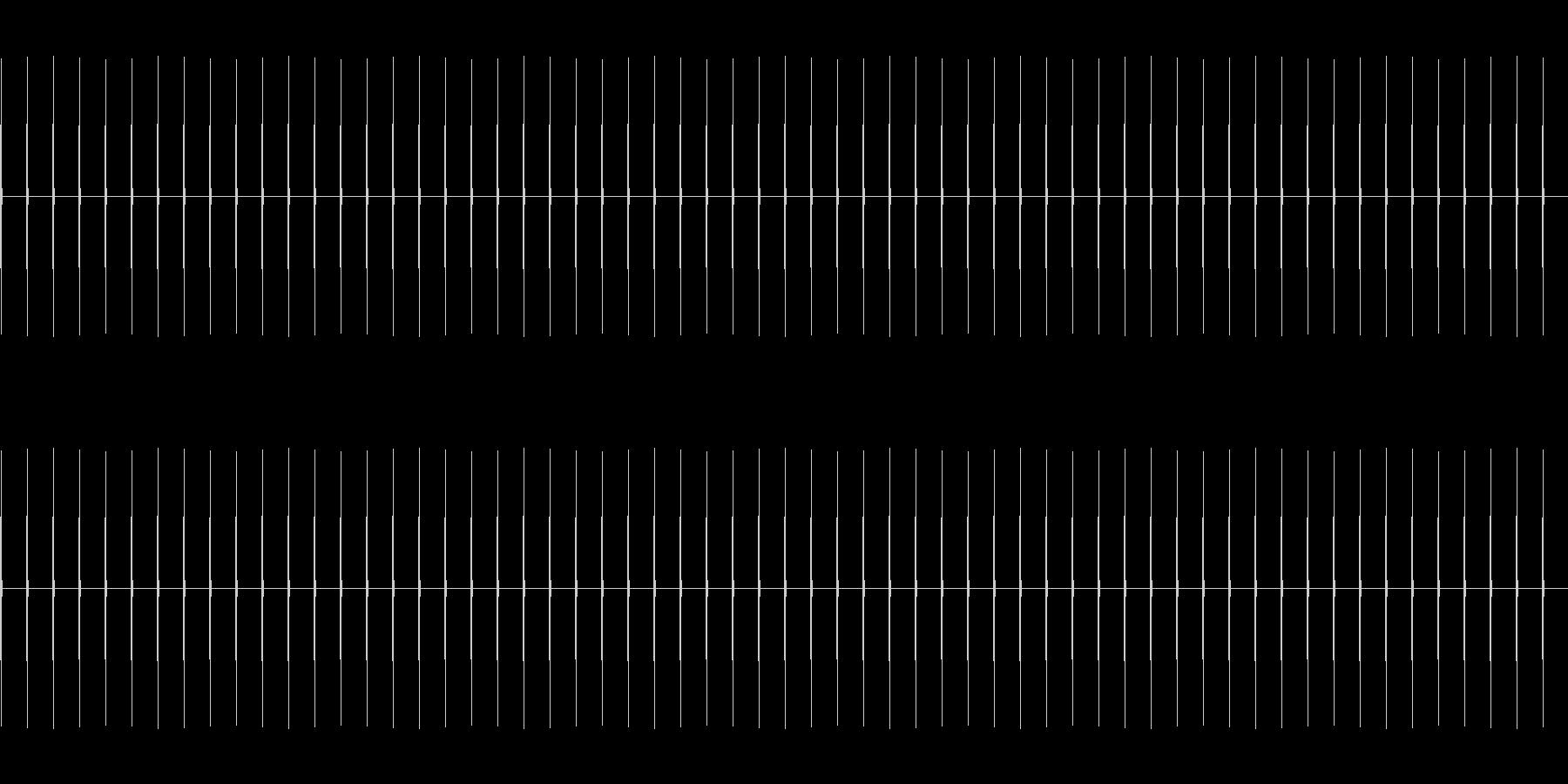時計の針の音BPM90(かなり速め)の未再生の波形