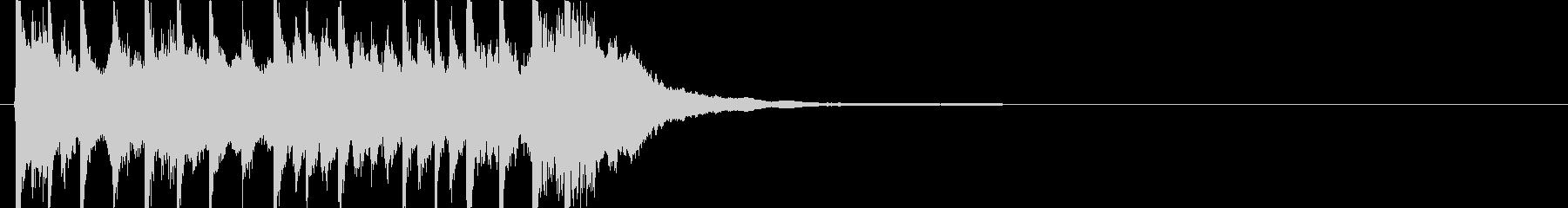 三味線主体の和風ジングル1 掛け声無の未再生の波形