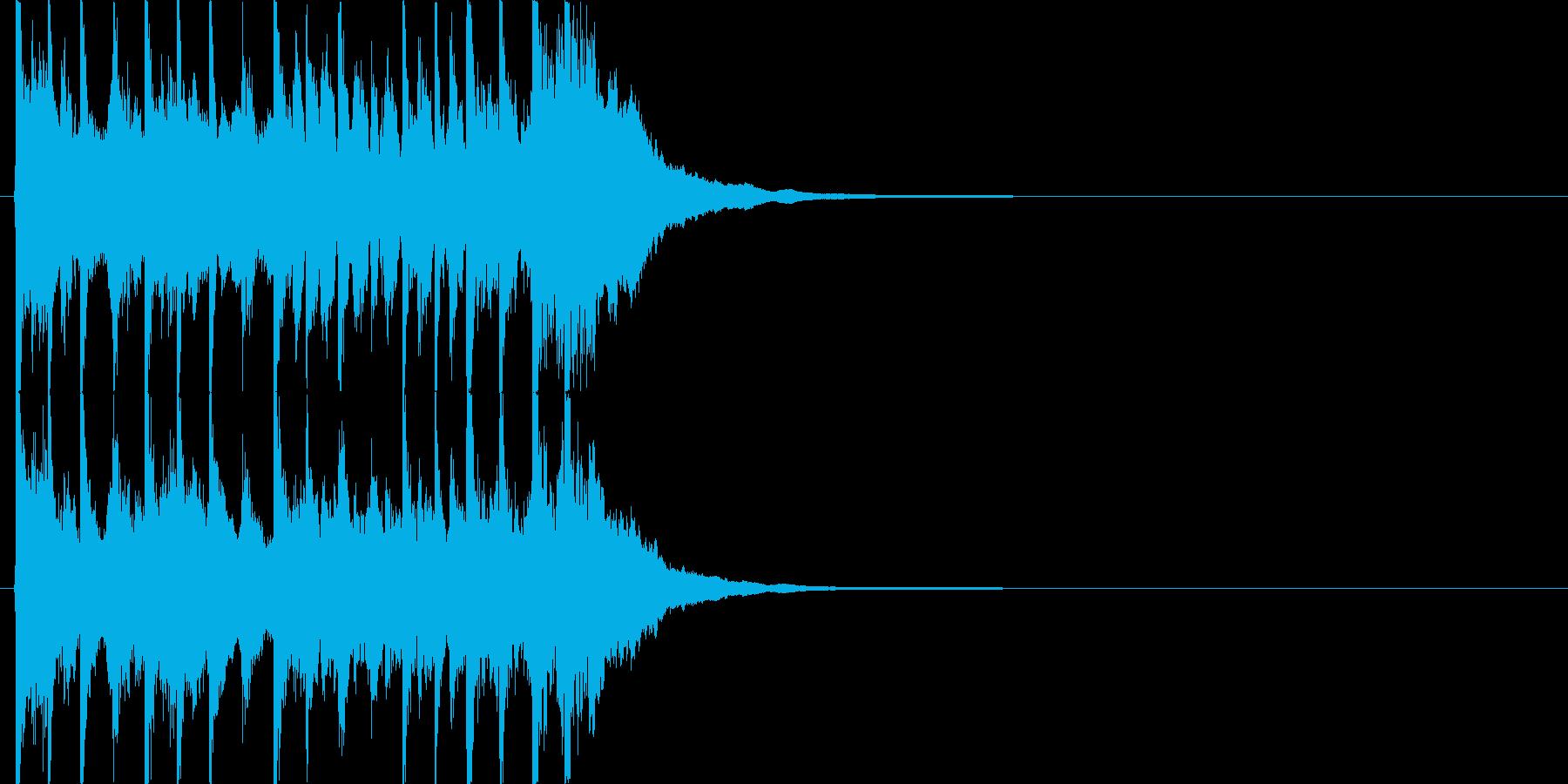 三味線主体の和風ジングル1 掛け声無の再生済みの波形
