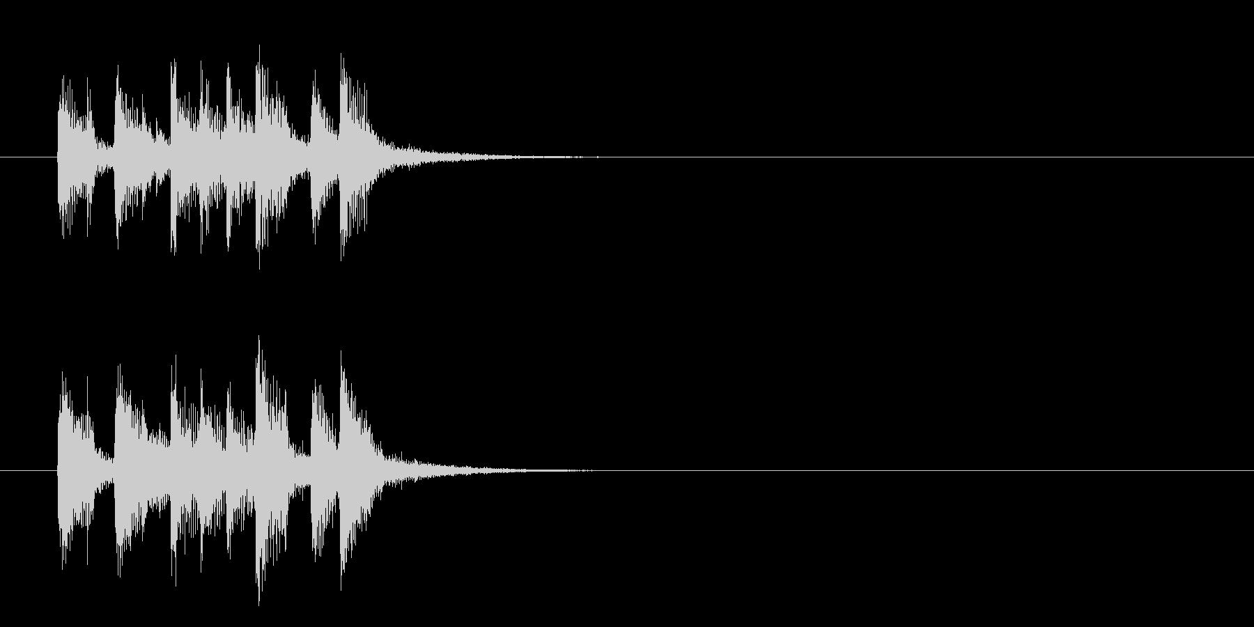 ジングル(爽やかなポップス)の未再生の波形