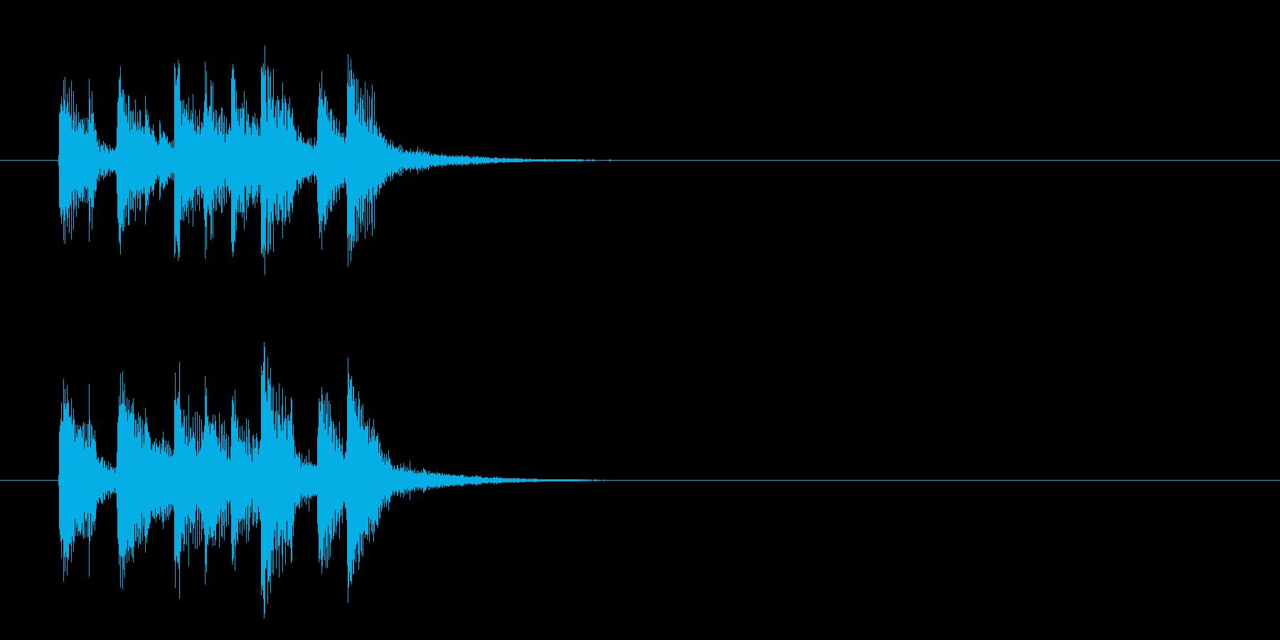 ジングル(爽やかなポップス)の再生済みの波形