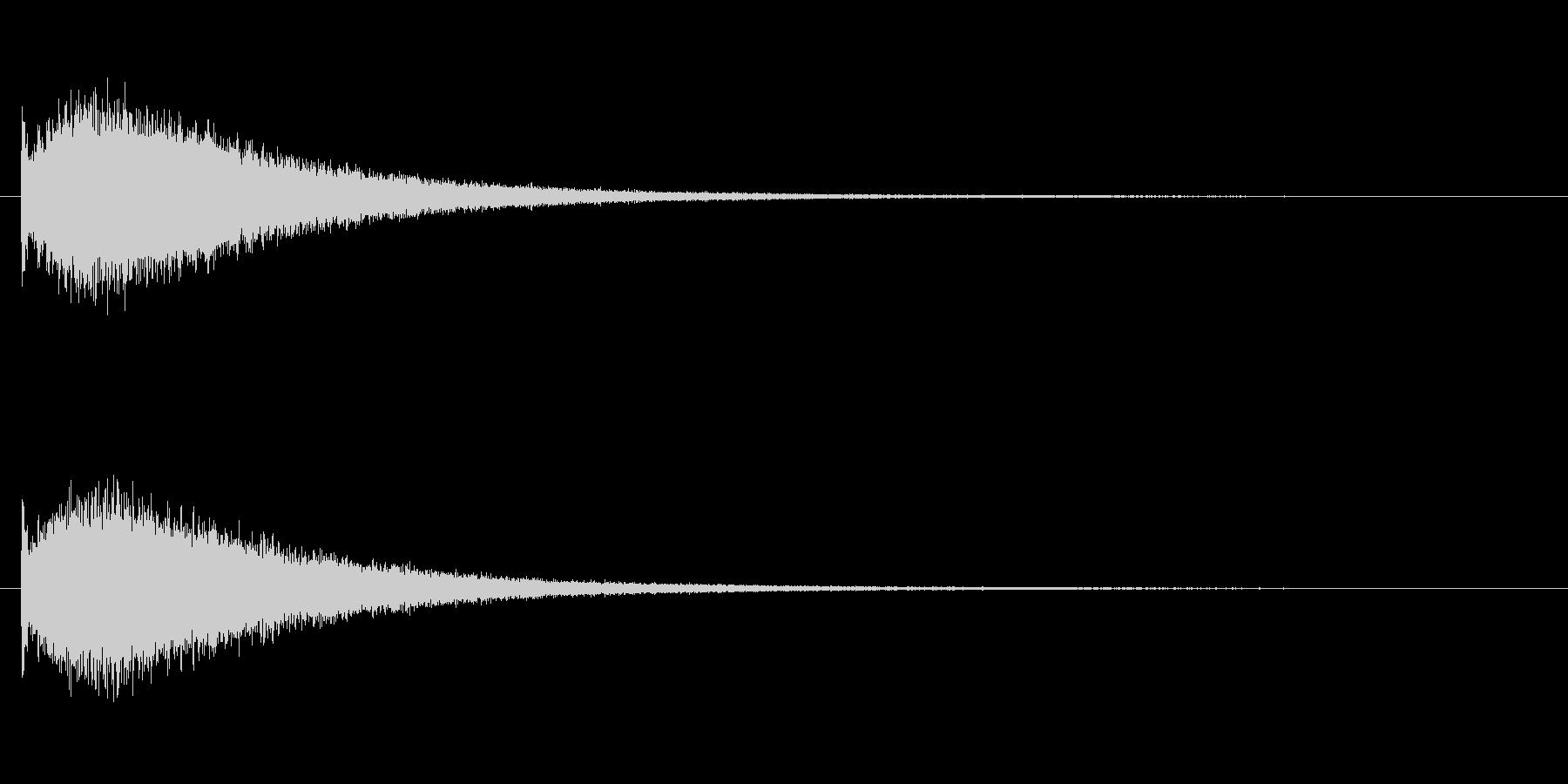 『ジャーン!』派手な中国ドラの単発音の未再生の波形