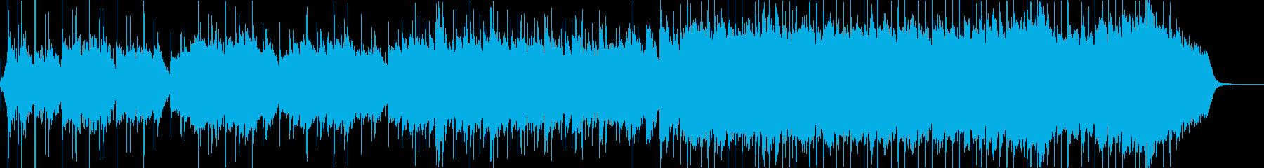 喜多郎風の和風ドラマチックBGMの再生済みの波形