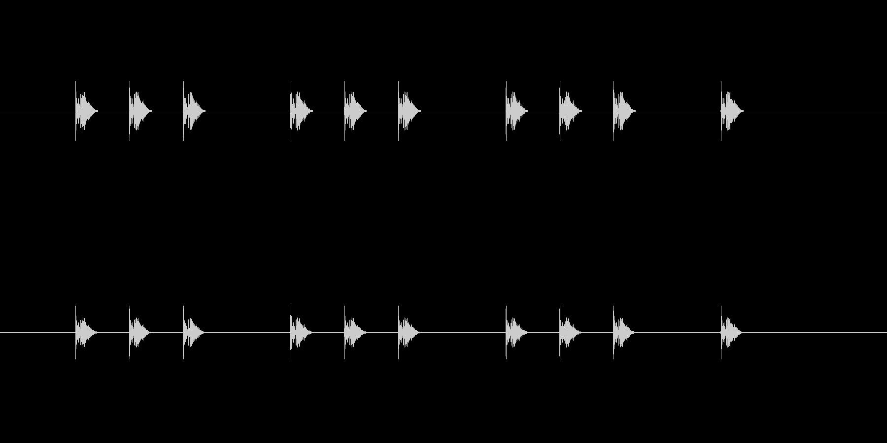 タタタン、タタタン、タタタン、タンの音の未再生の波形