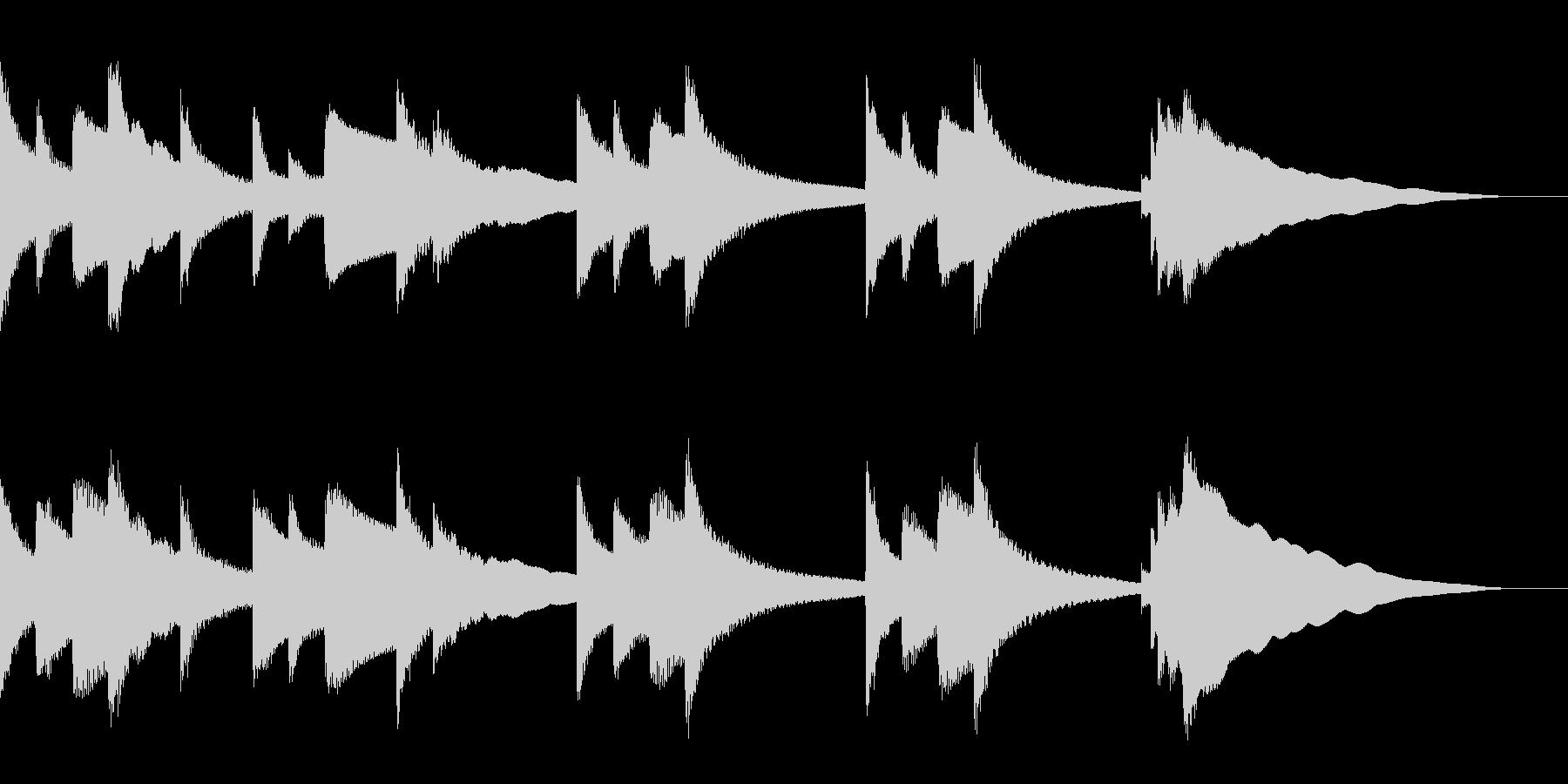 冬を感じるジングルBGMの未再生の波形