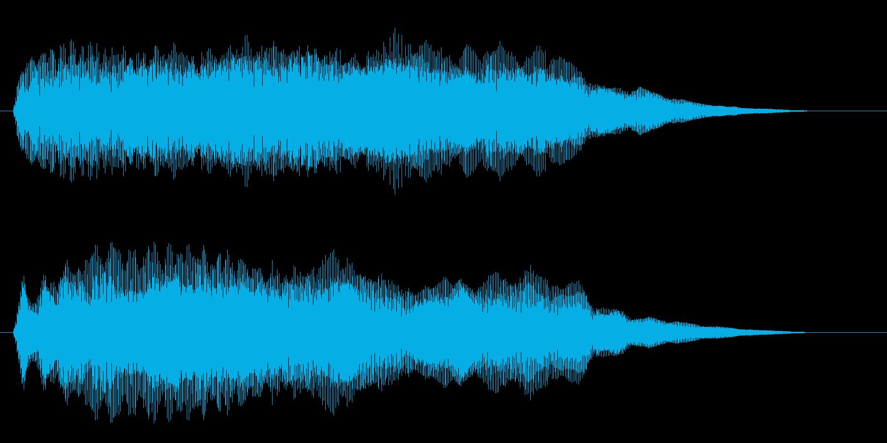 幻想的な宇宙空間の効果音の再生済みの波形