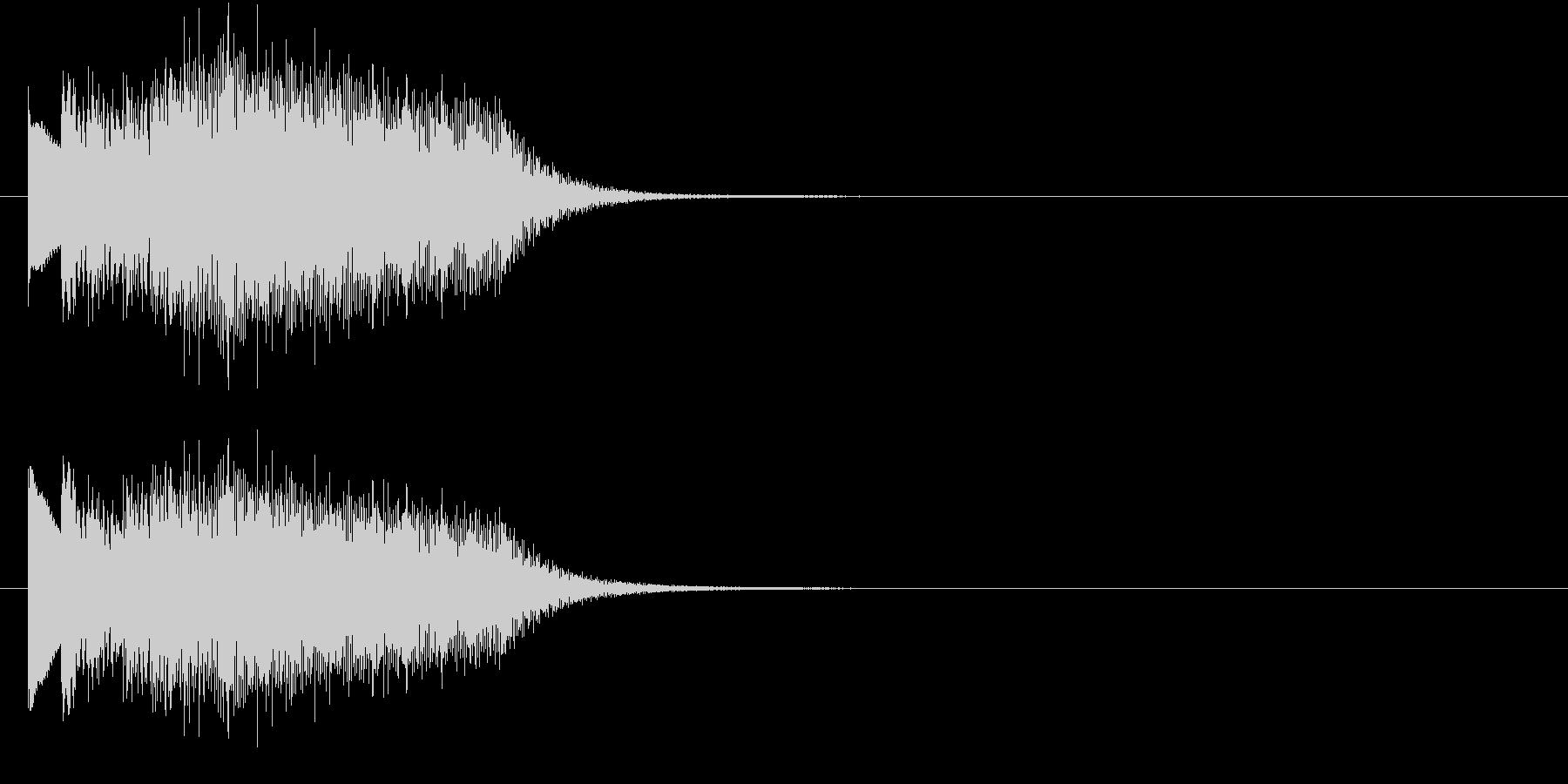 不思議なビブラフォンの上昇の未再生の波形