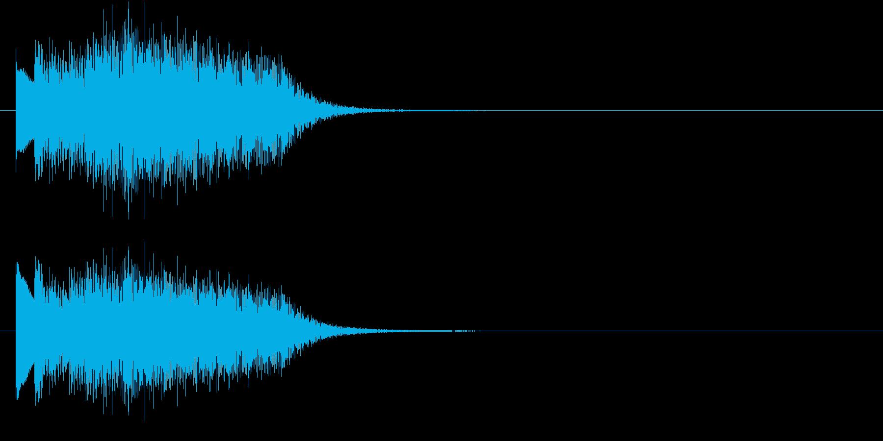 不思議なビブラフォンの上昇の再生済みの波形
