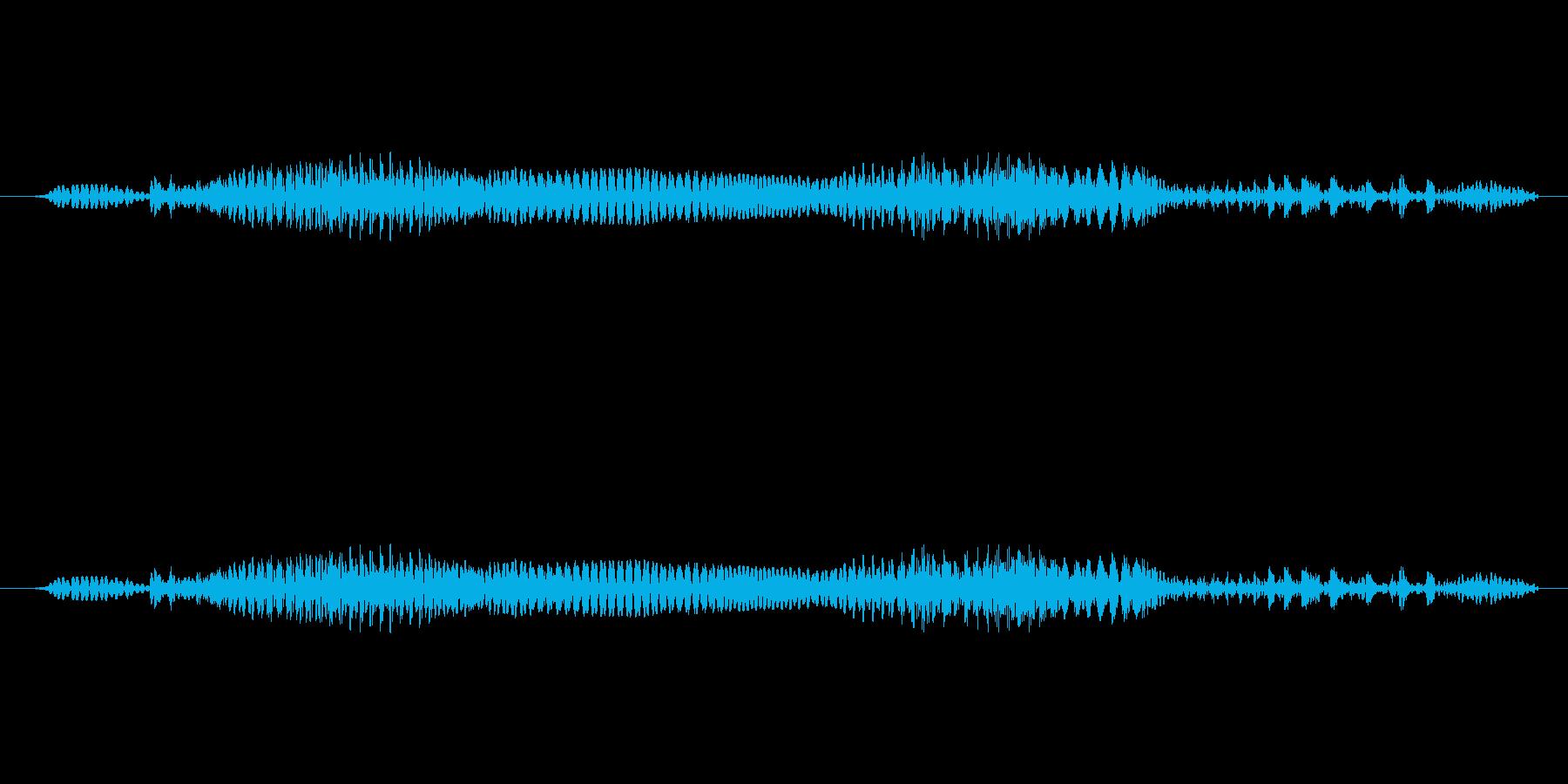 男声「GameOver」重め歪みの再生済みの波形