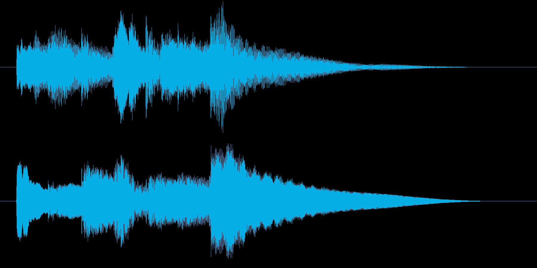 【ジングル】オルゴールのゆったりした曲の再生済みの波形
