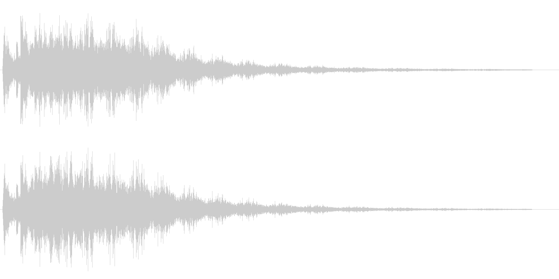 チュルチュル(甲高い擦れあう効果音)の未再生の波形