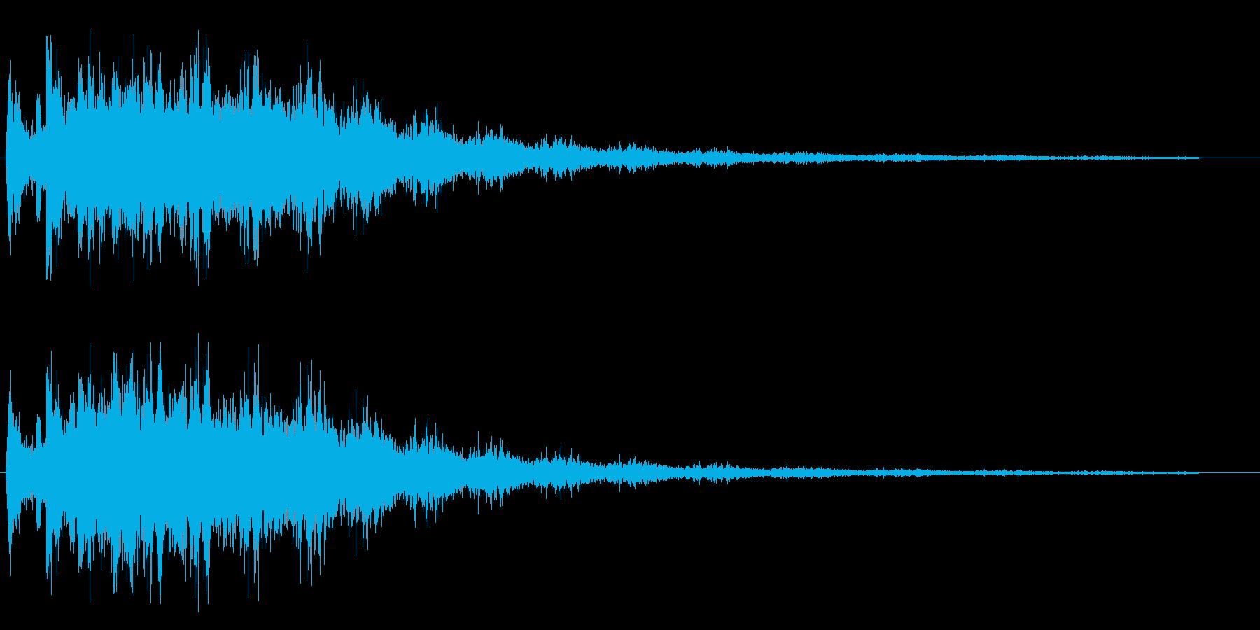 チュルチュル(甲高い擦れあう効果音)の再生済みの波形