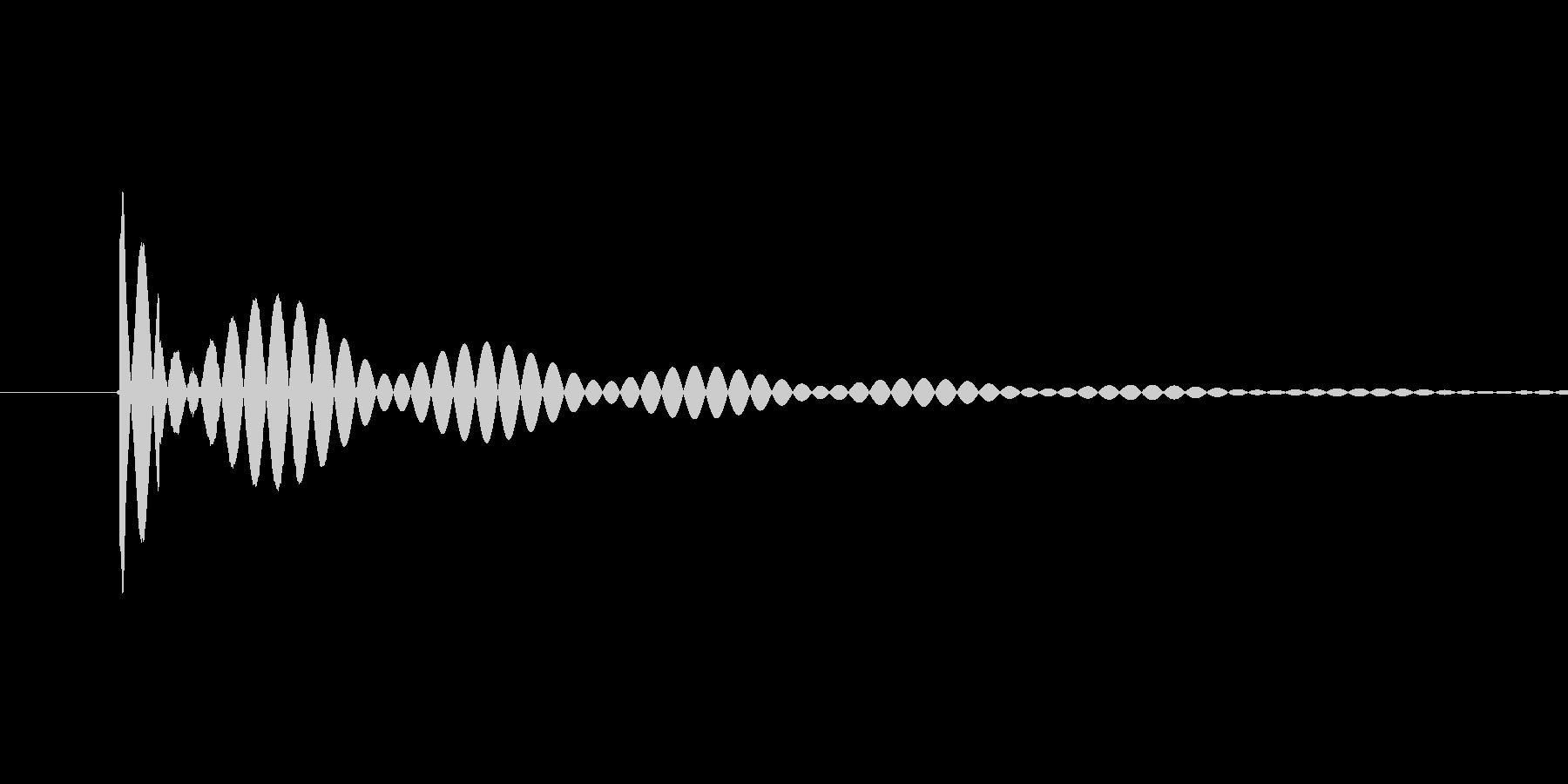 【アプリ】画面タッチした時の音「ポン」の未再生の波形