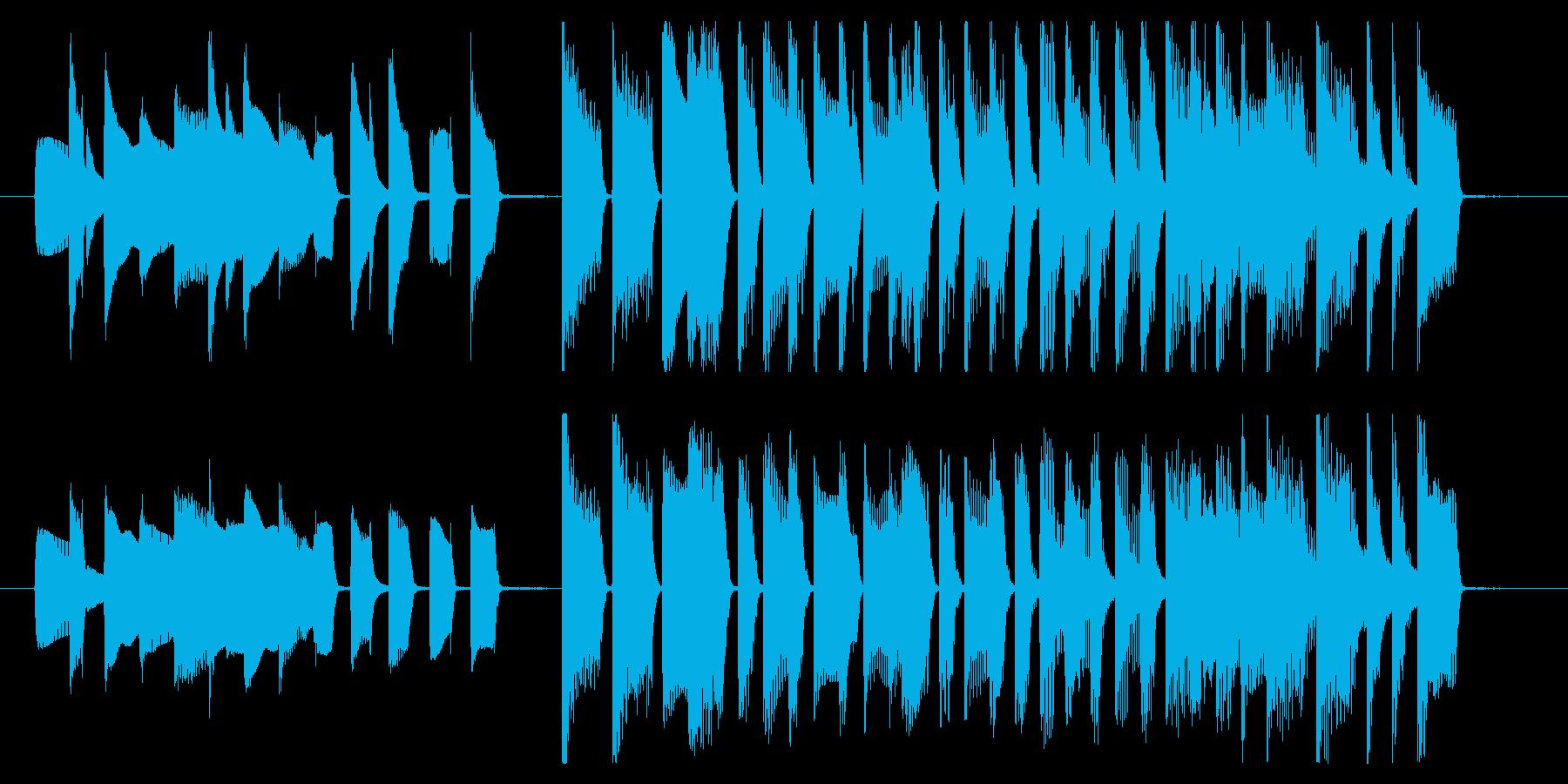 15秒CMサイズの1 家庭用品のCMなどの再生済みの波形