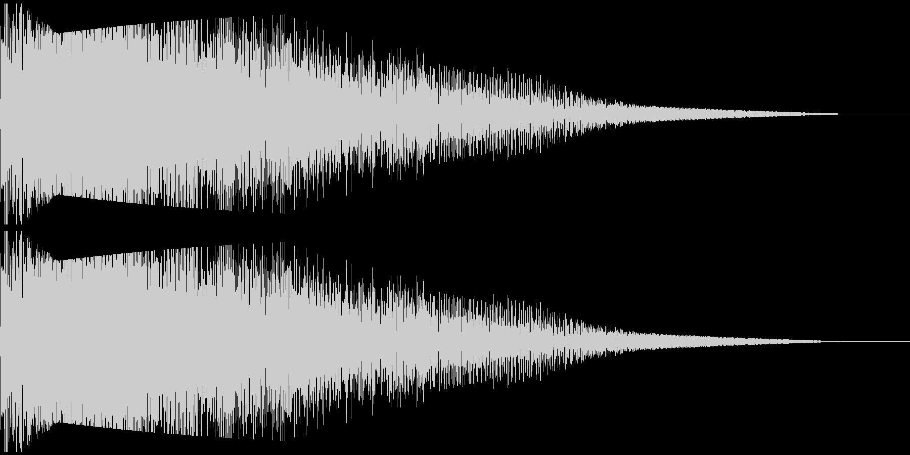 ビームライフル発射音 タイプ2の未再生の波形