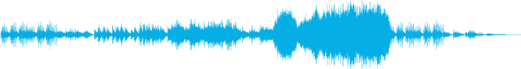 結婚式や感動シーンや映像用バラードの再生済みの波形