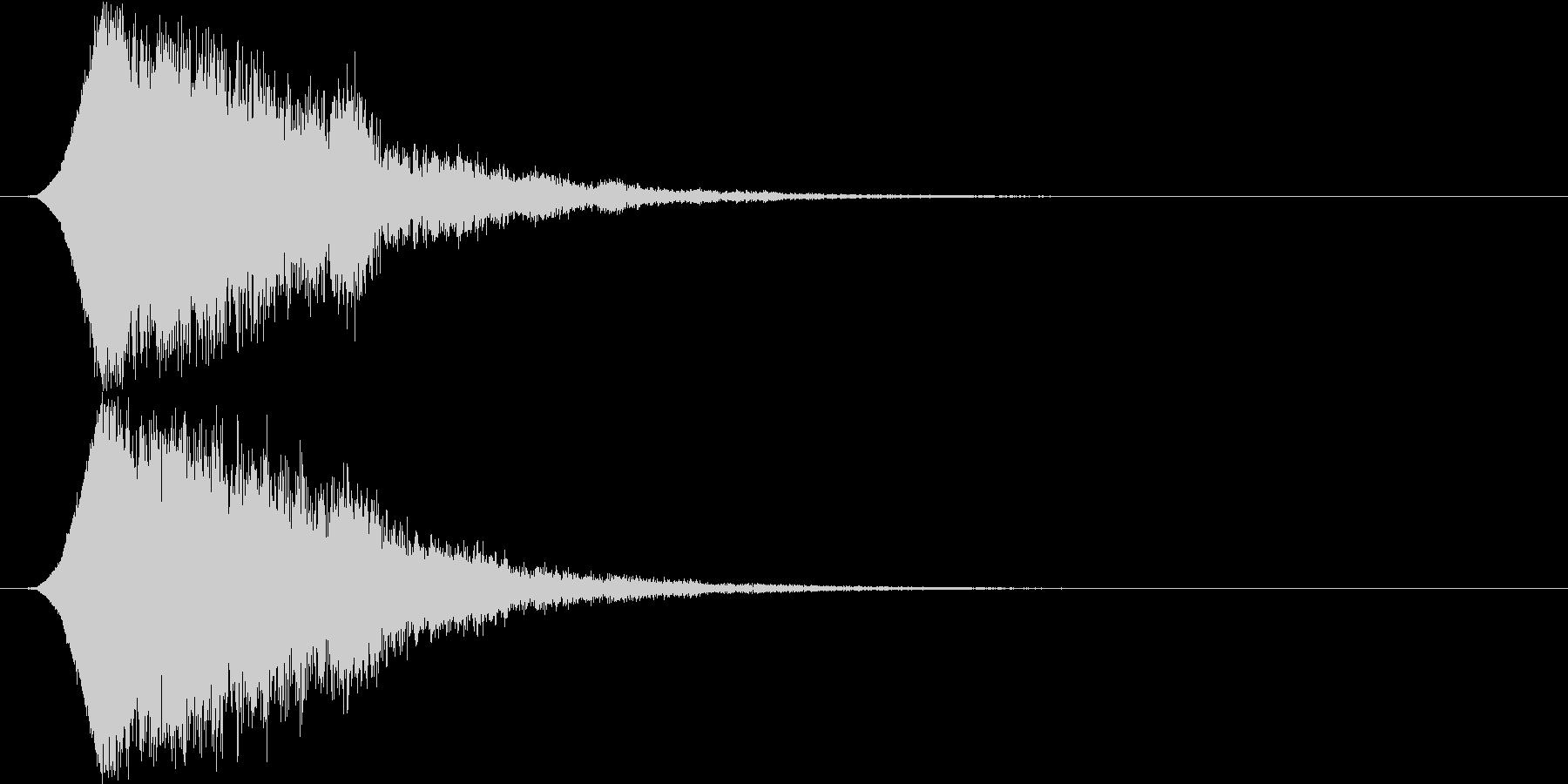 キュピーン 派手なインパクト音1の未再生の波形