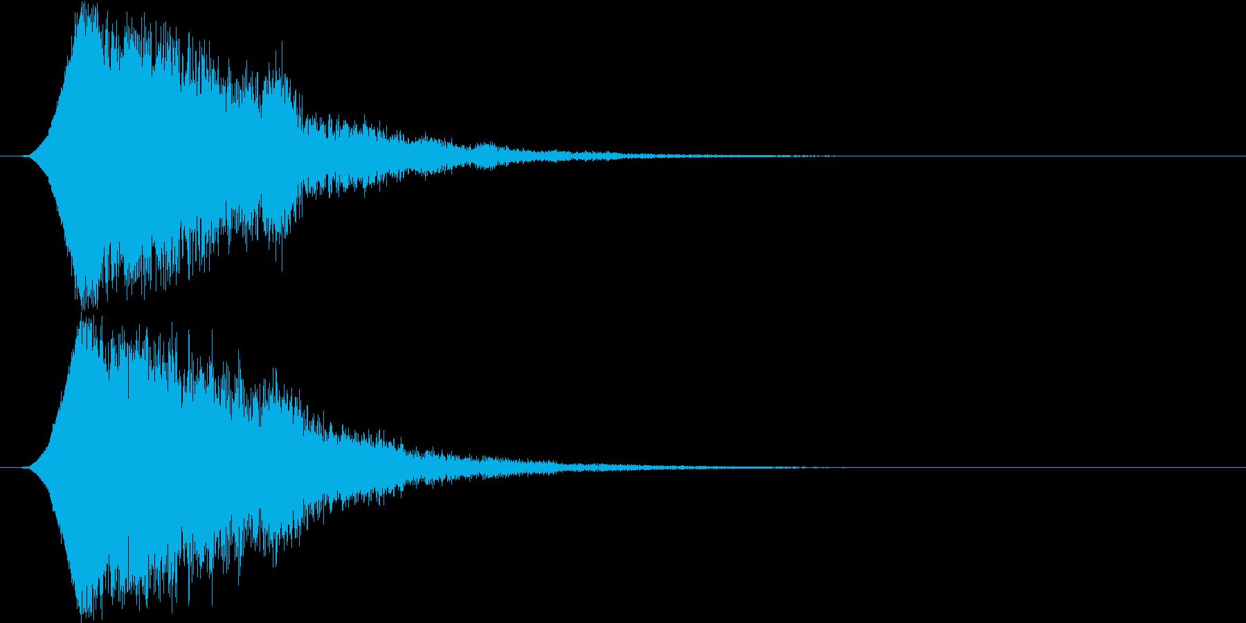 キュピーン 派手なインパクト音1の再生済みの波形